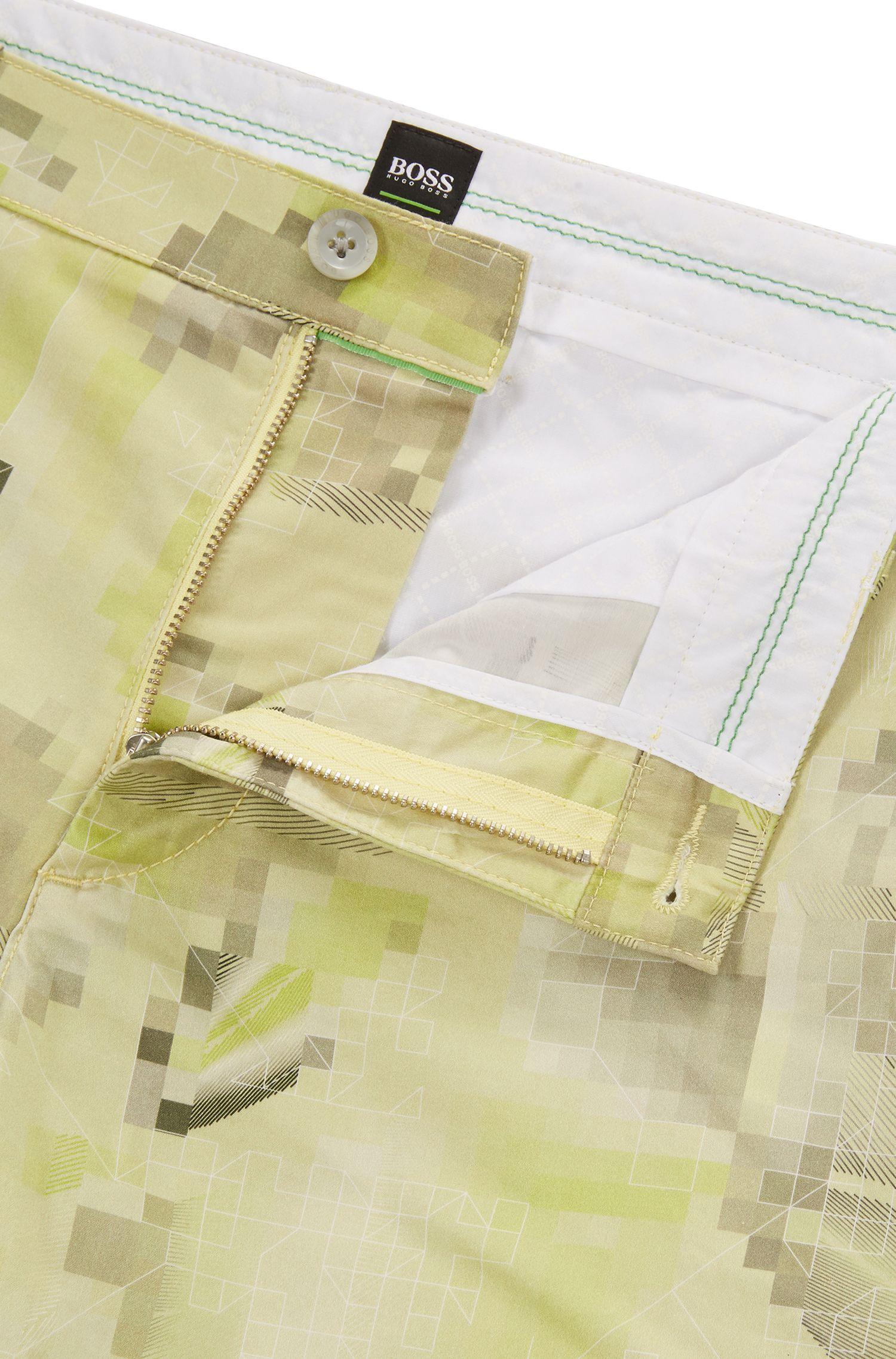 Short à imprimé graphique en doux coton stretch