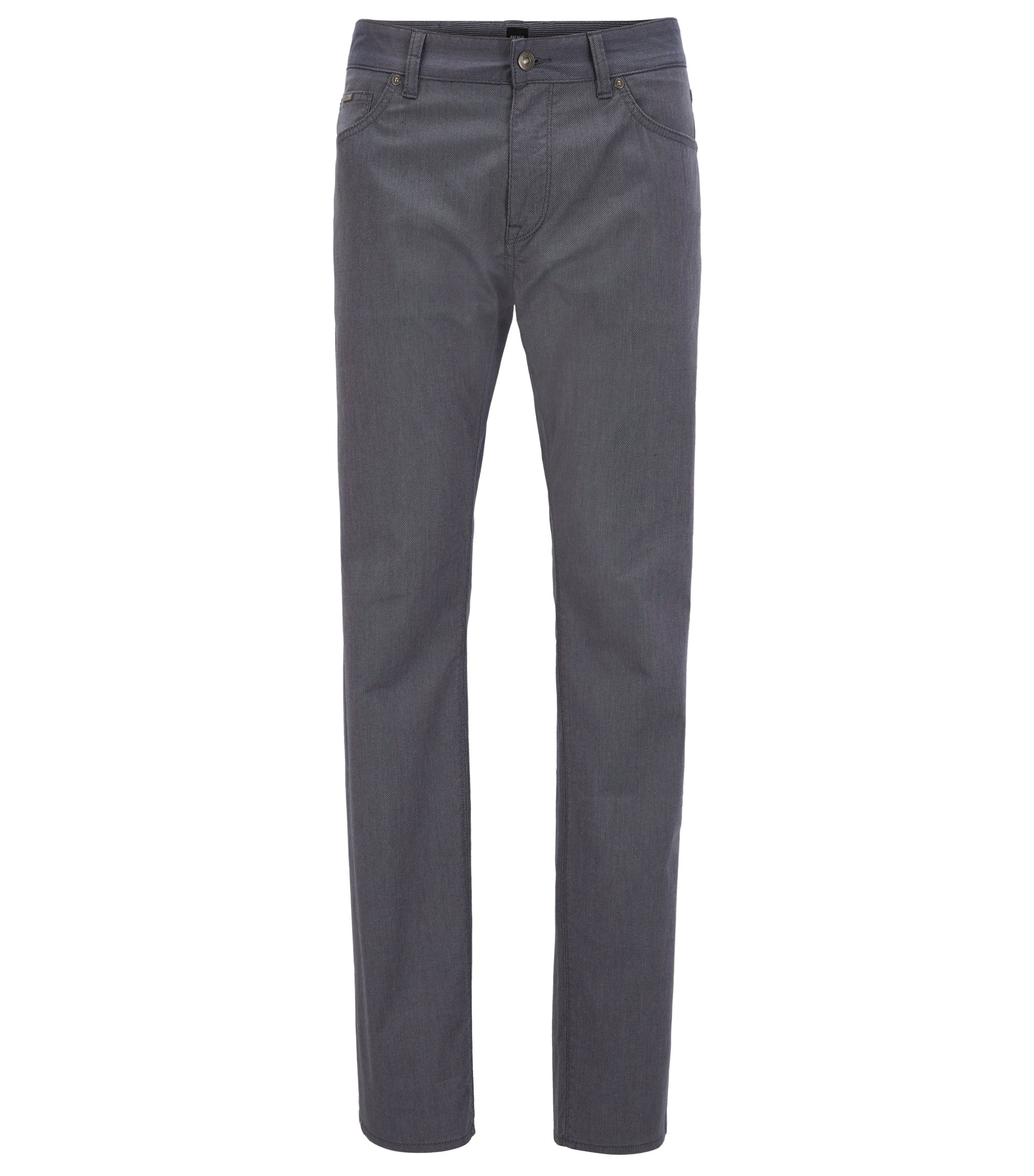 Regular-fit jeans in stretch piqué fabric, Dark Blue