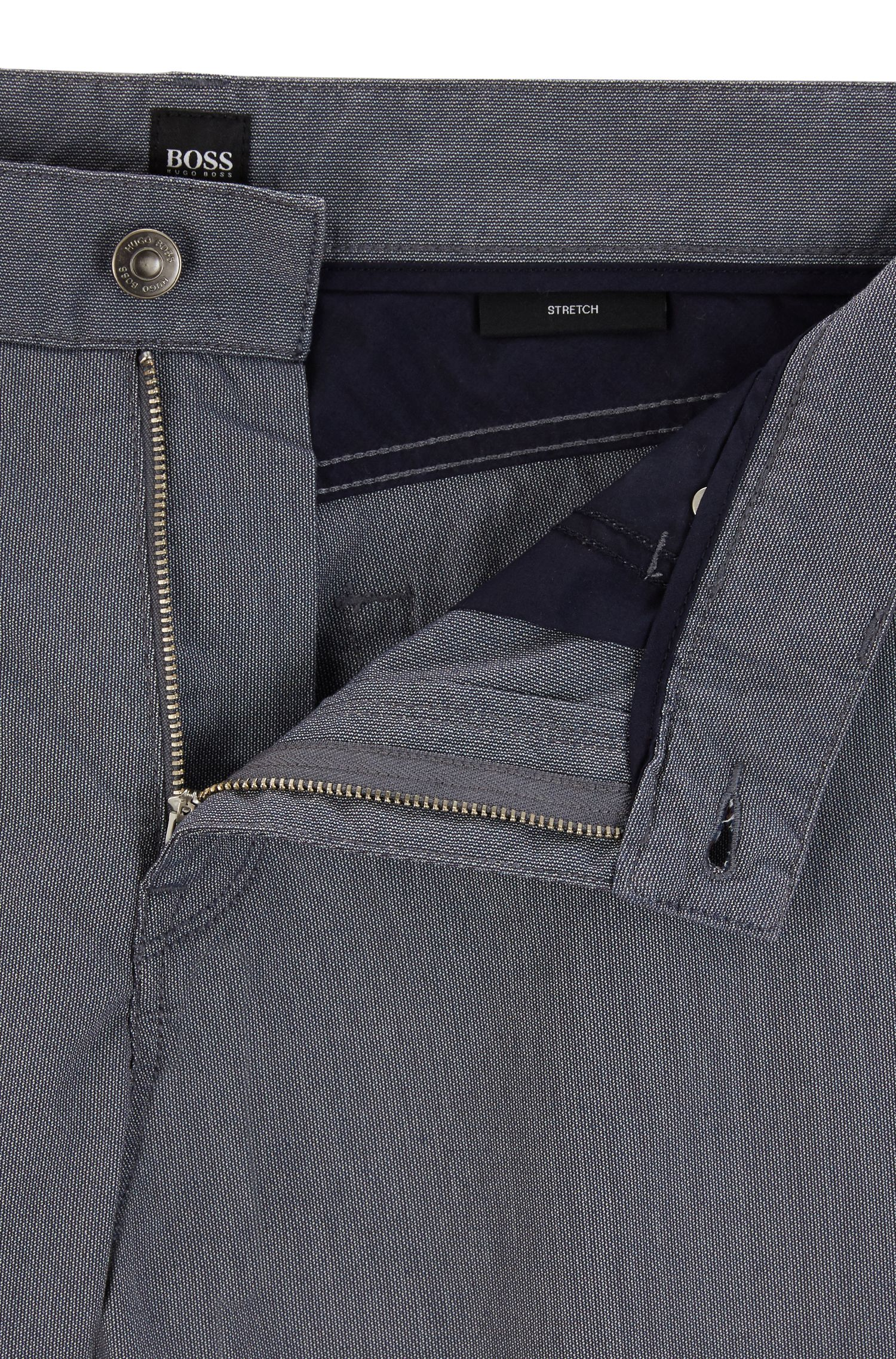 Regular-Fit Jeans aus Stretch-Piqué