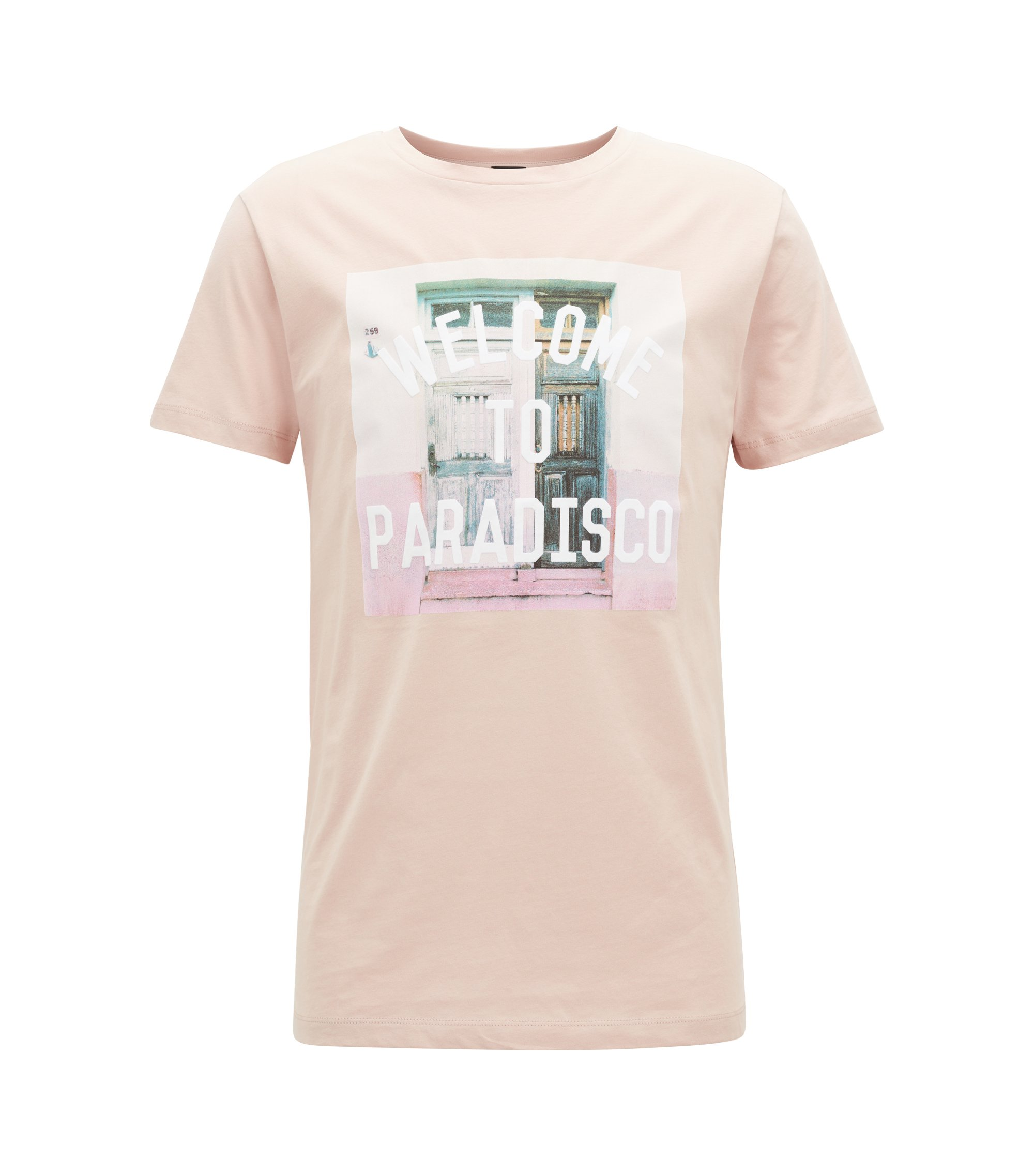 T-shirt graphique Relaxed Fit en jersey simple de coton, Rose clair