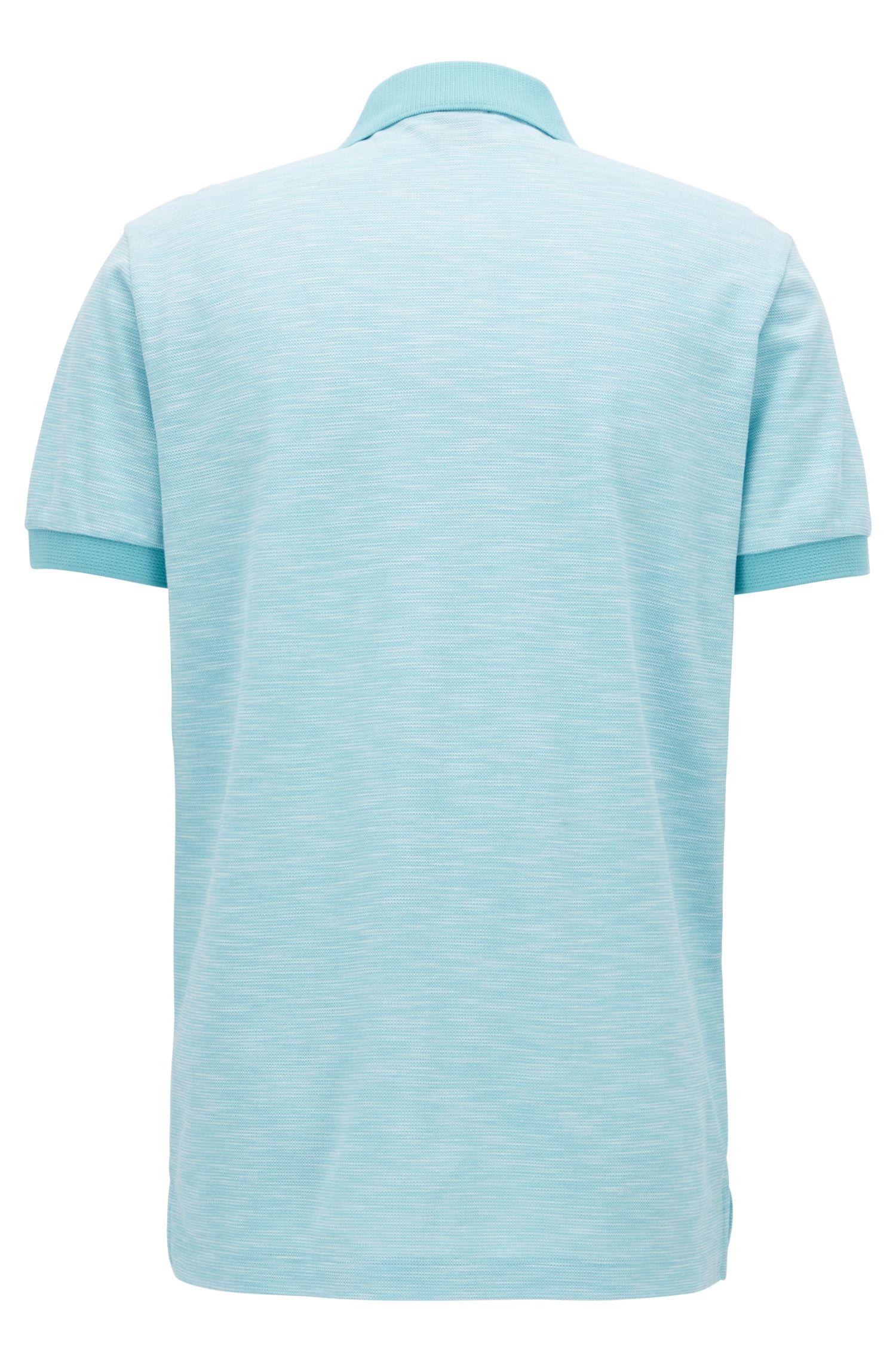 Zweifarbiges Poloshirt aus Baumwoll-Piqué