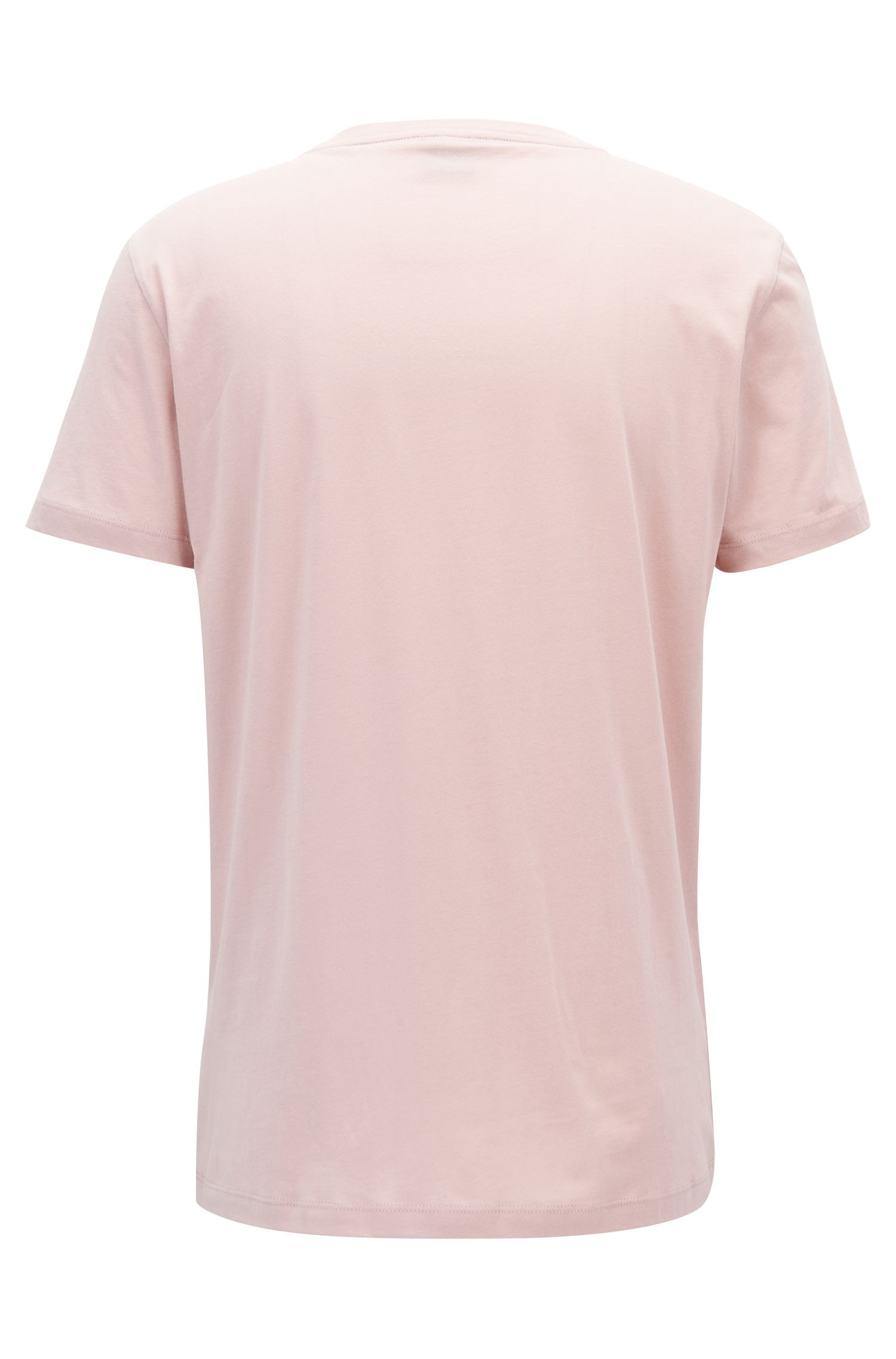 Relaxed-Fit T-Shirt aus Baumwolle mit Logo, Hellrosa