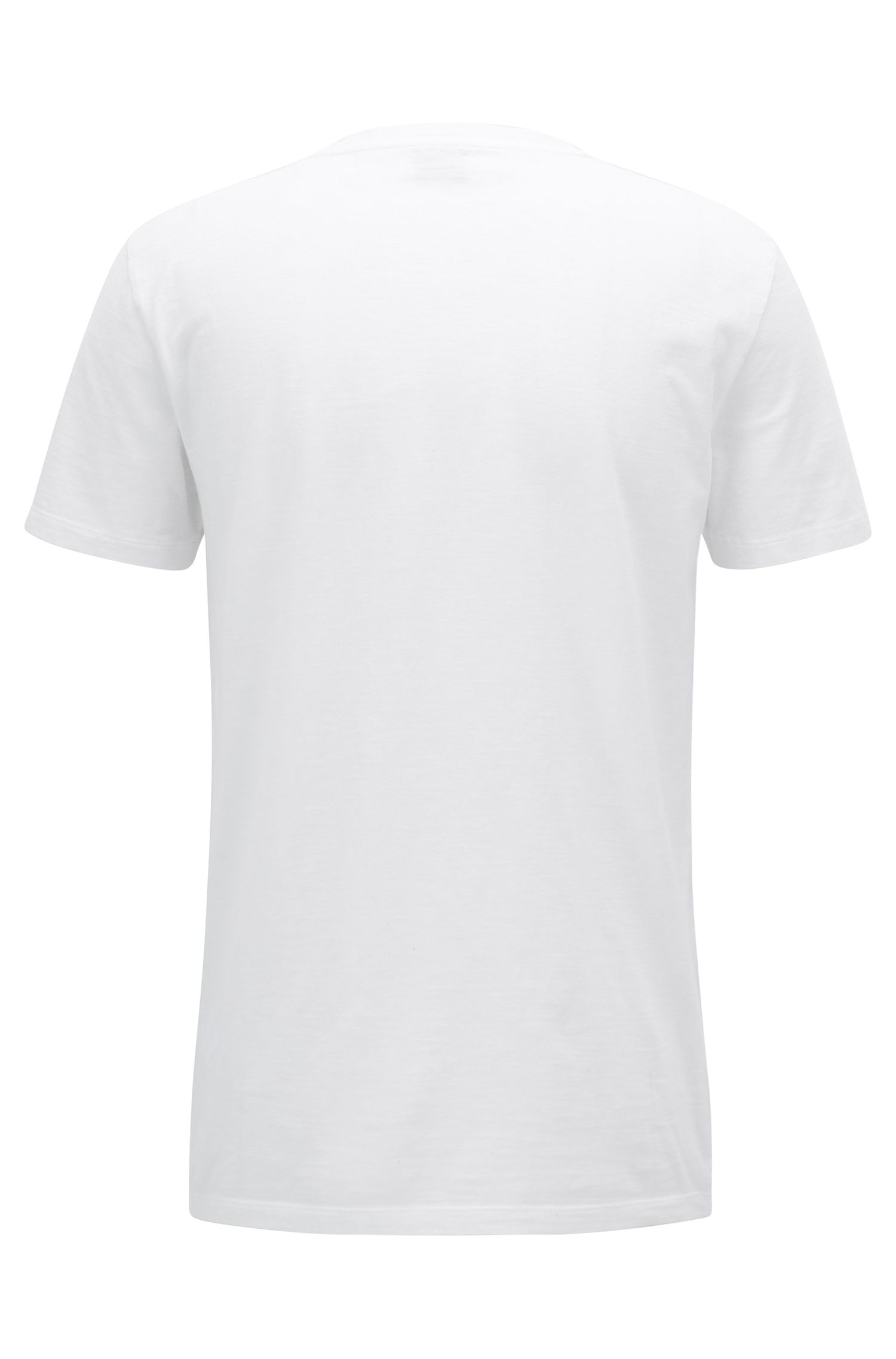 Photo-print slub-cotton T-shirt in a relaxed fit