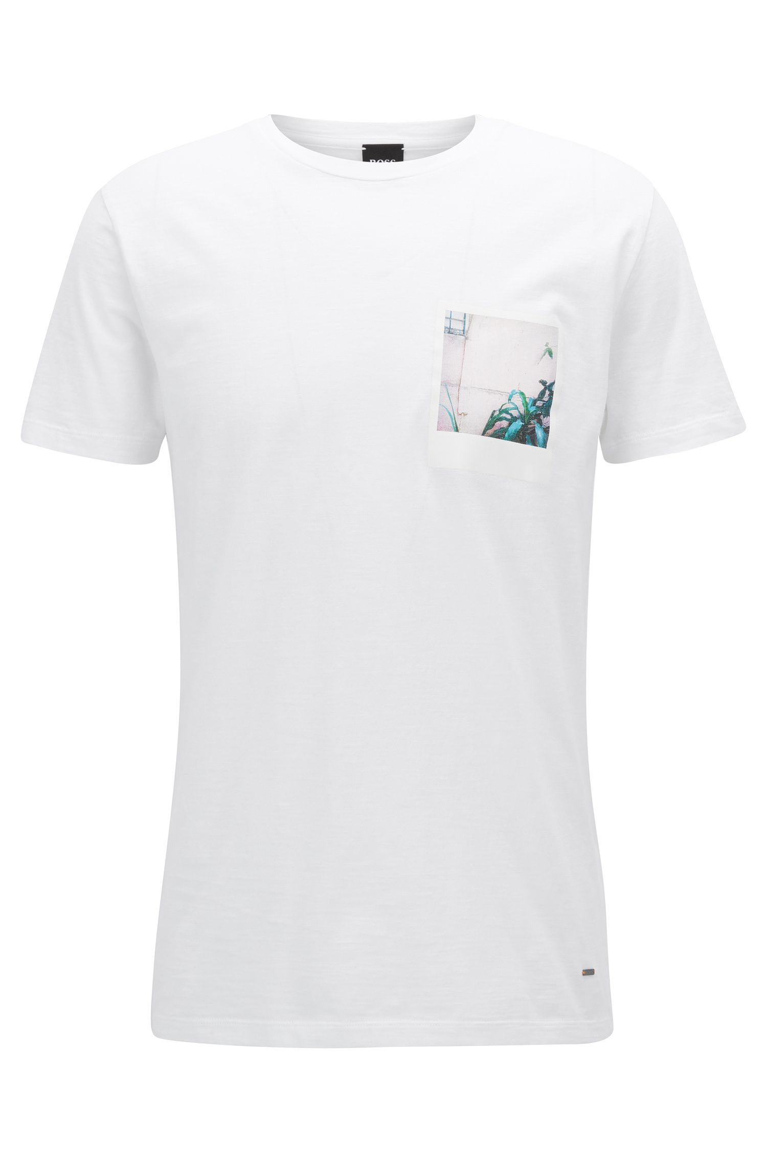 Relaxed-fit T-shirt van slubkatoen met fotoprint