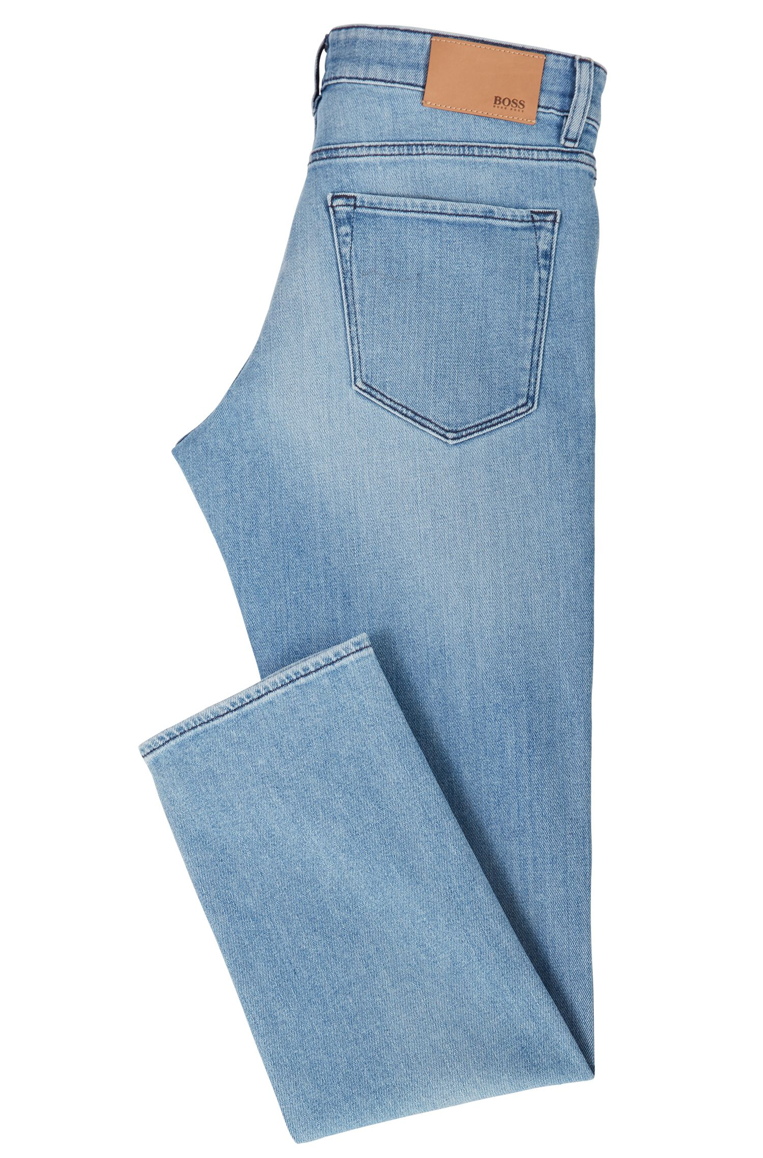 Jean Regular Fit en denim stretch au délavage moyen