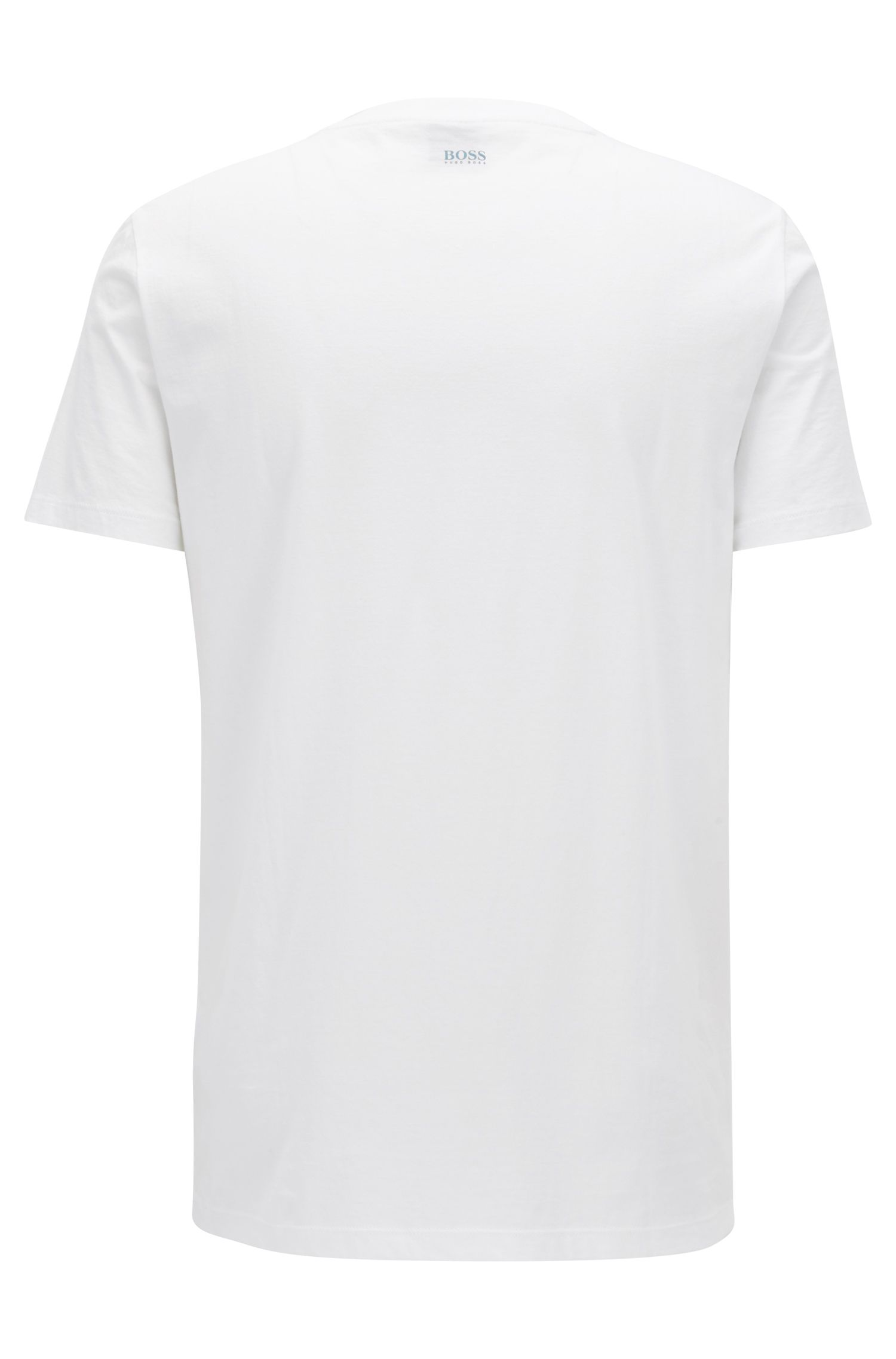 Regular-Fit T-Shirt aus Pima-Baumwolle mit Print