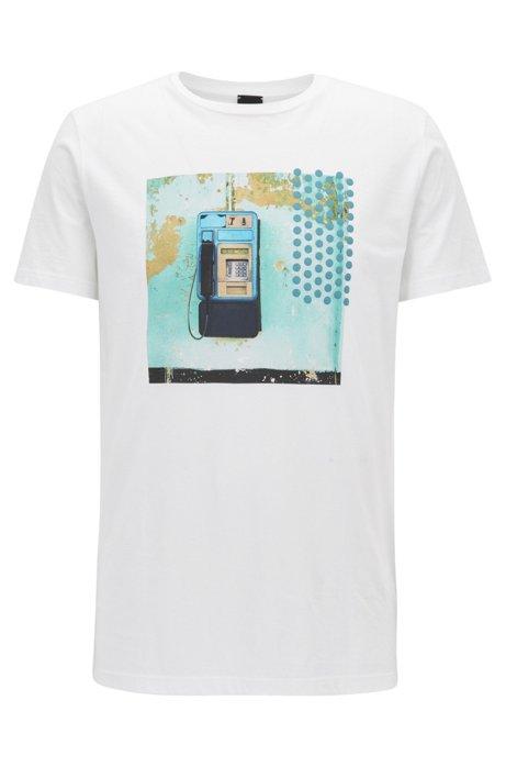 HUGO BOSS T-shirt Regular Fit en coton Pima avec logo Meilleur Jeu authentique 1UQR5R