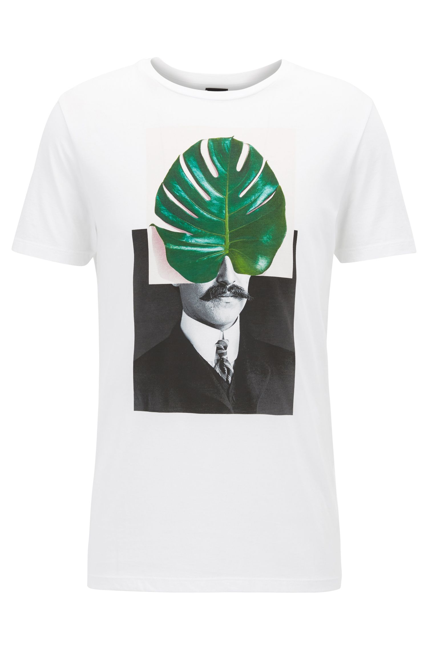 Digitally-printed pima-cotton T-shirt in a regular fit