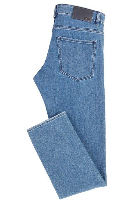 Jeans Slim Fit En Patron Denim Extensible Bleu Moyen LO6QP1