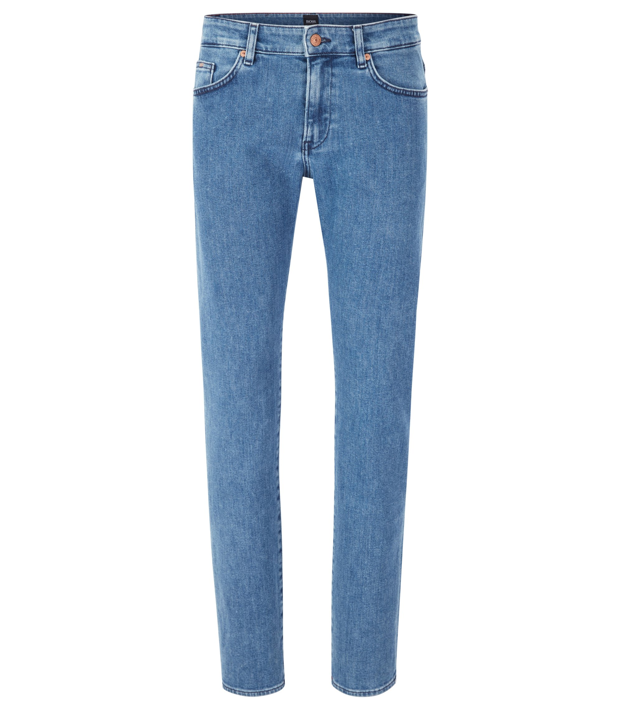 Jean Slim Fit en denim stretch bleu moyen, Bleu