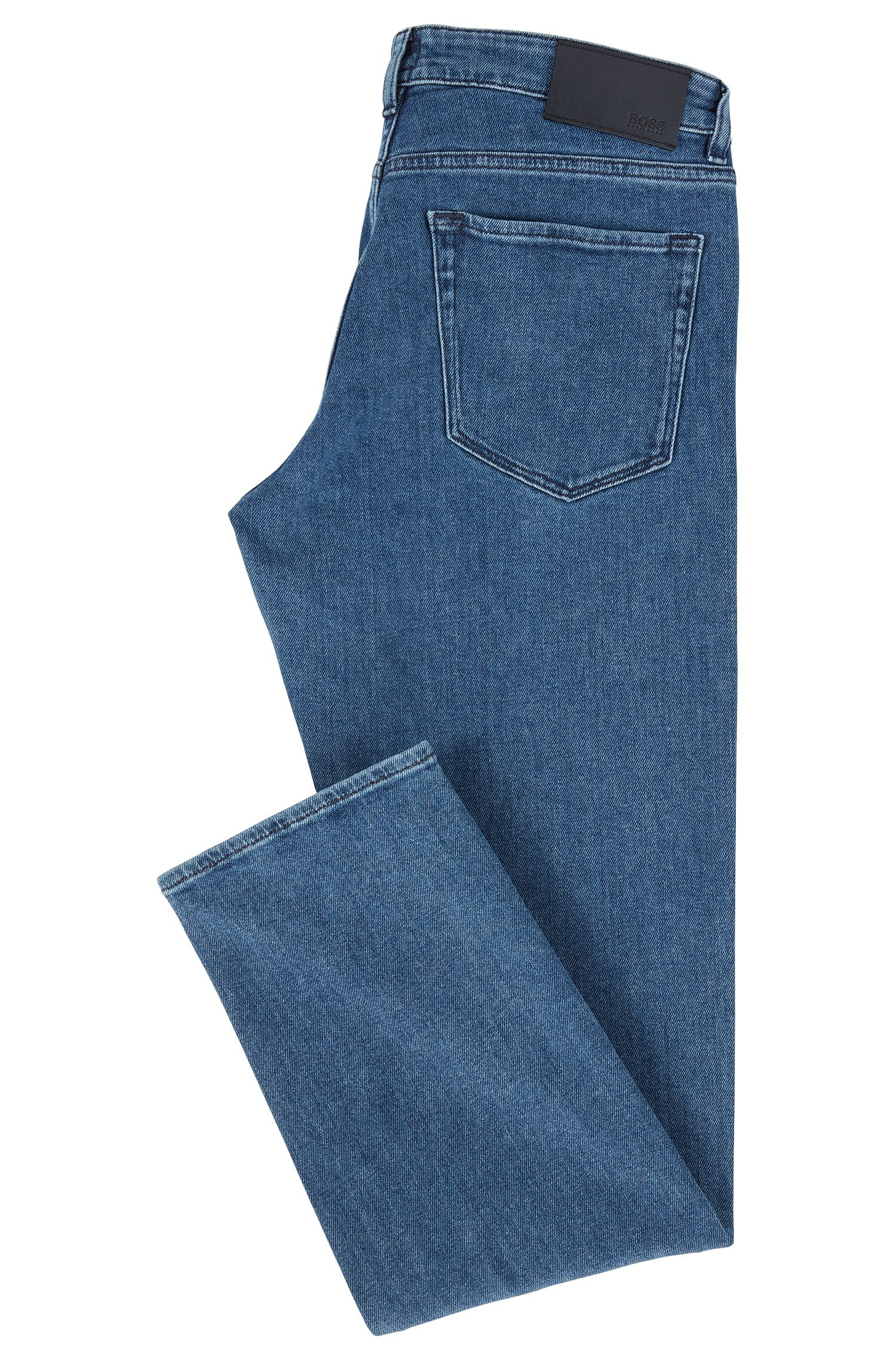 Regular-fit jeans van comfortabel stretchdenim, Blauw