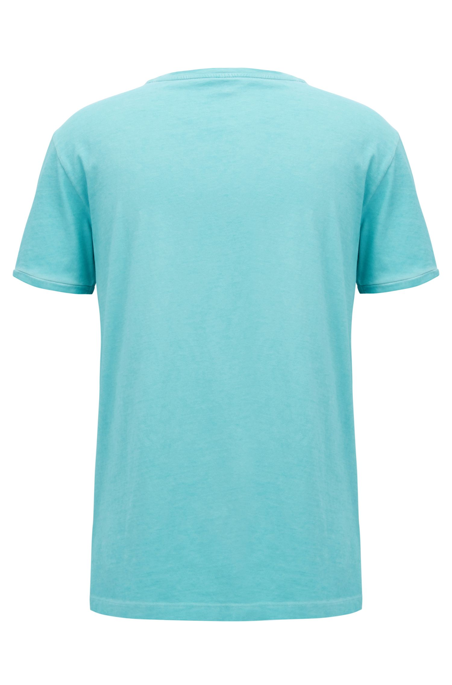 T-Shirt aus Baumwolle mit beflocktem Logo