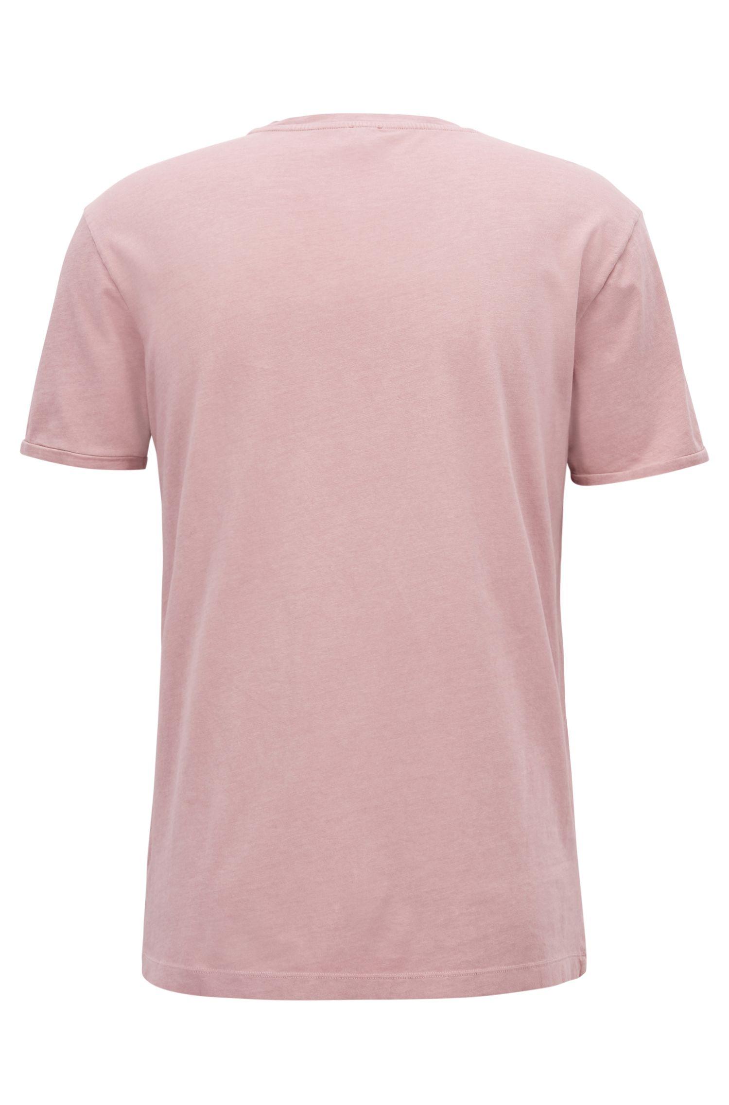 T-shirt en coton à logo floqué