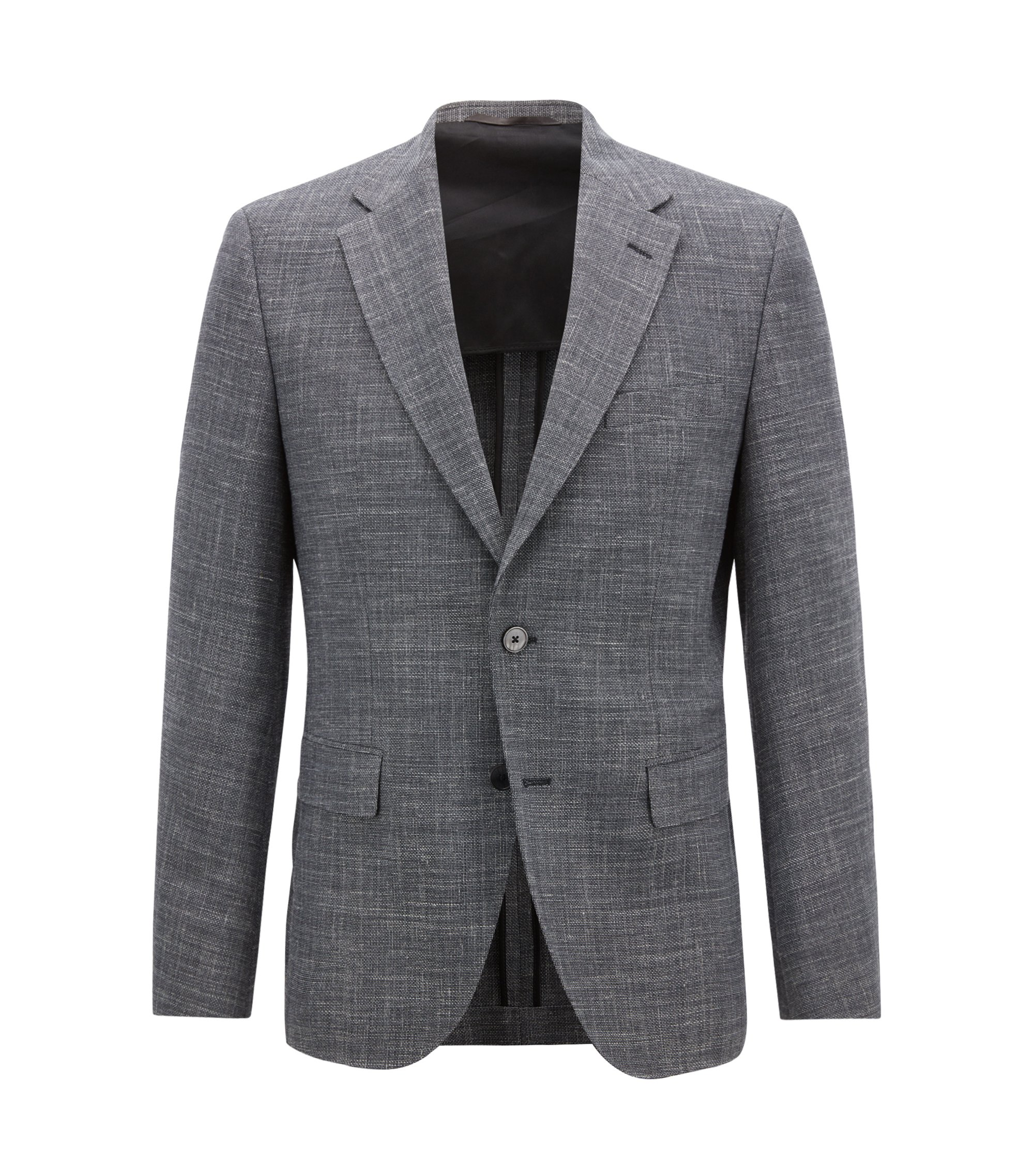 Regular-fit jacket with elbow patches, Dark Grey