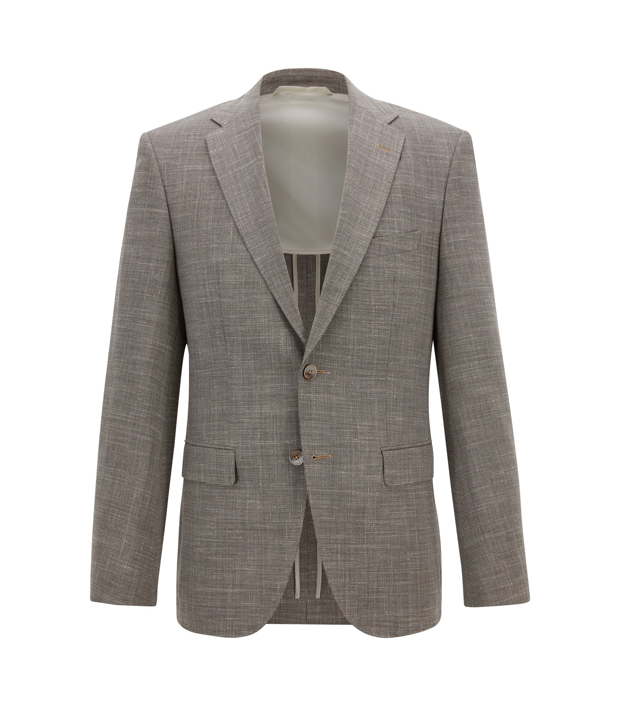 Regular-fit jacket with elbow patches, Beige