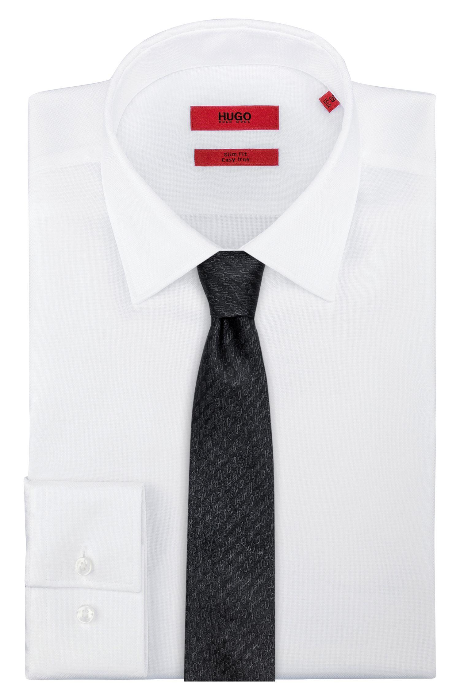 Krawatte aus Seiden-Jacquard mit Logo-Muster
