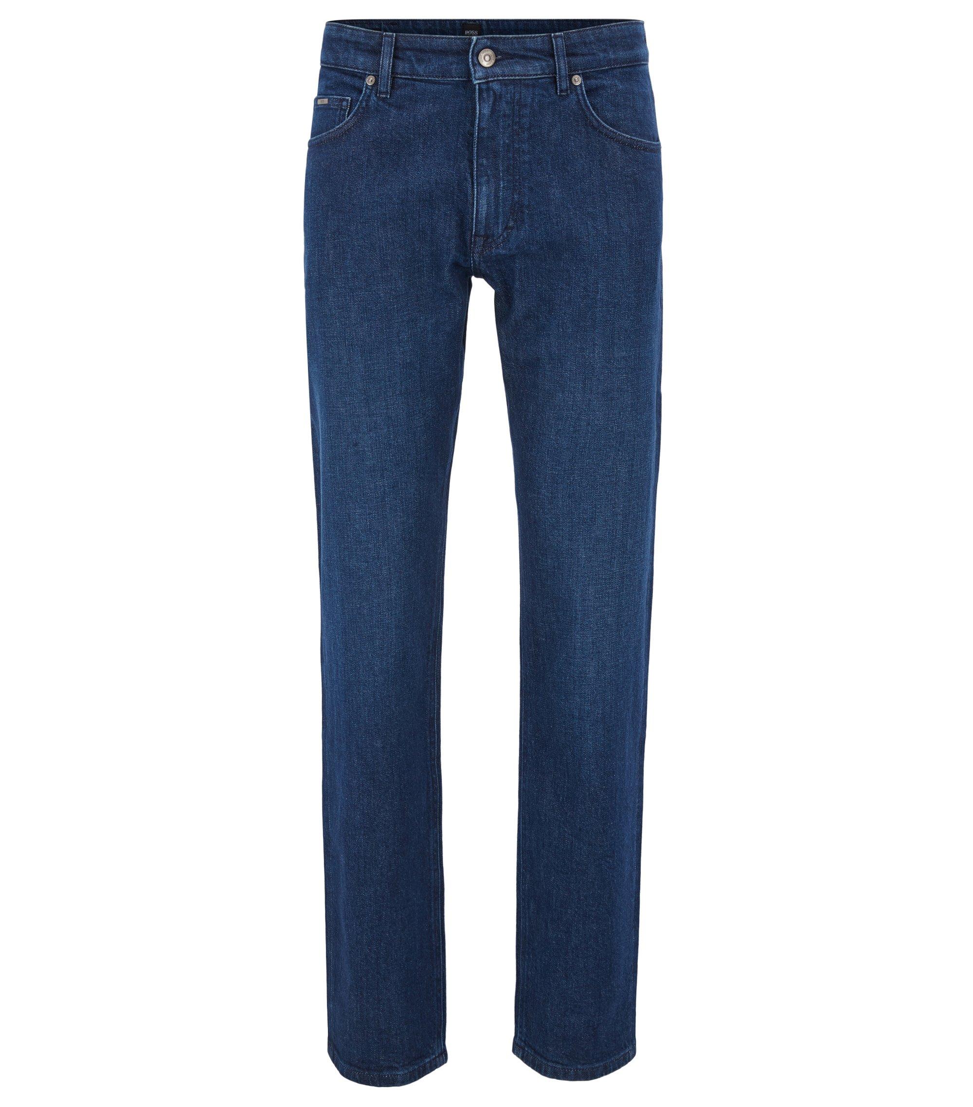 Relaxed-fit jeans in dark-blue Italian denim, Dark Blue