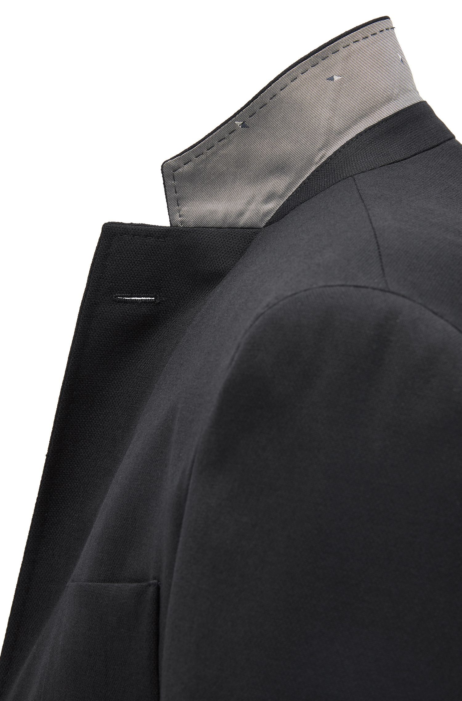 Giacca extra slim fit in lana vergine