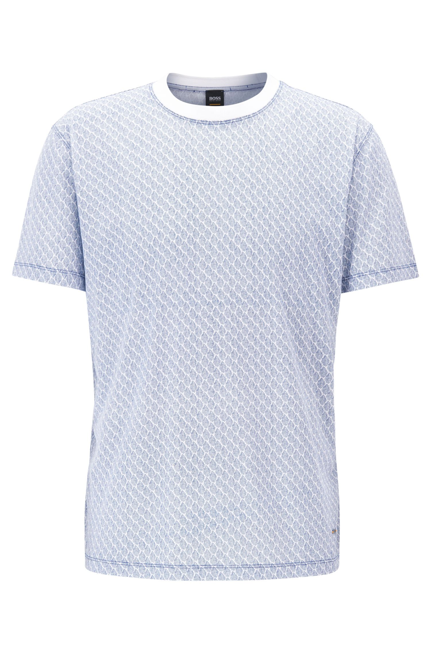 Relaxed fit T-shirt in patterned cotton jersey