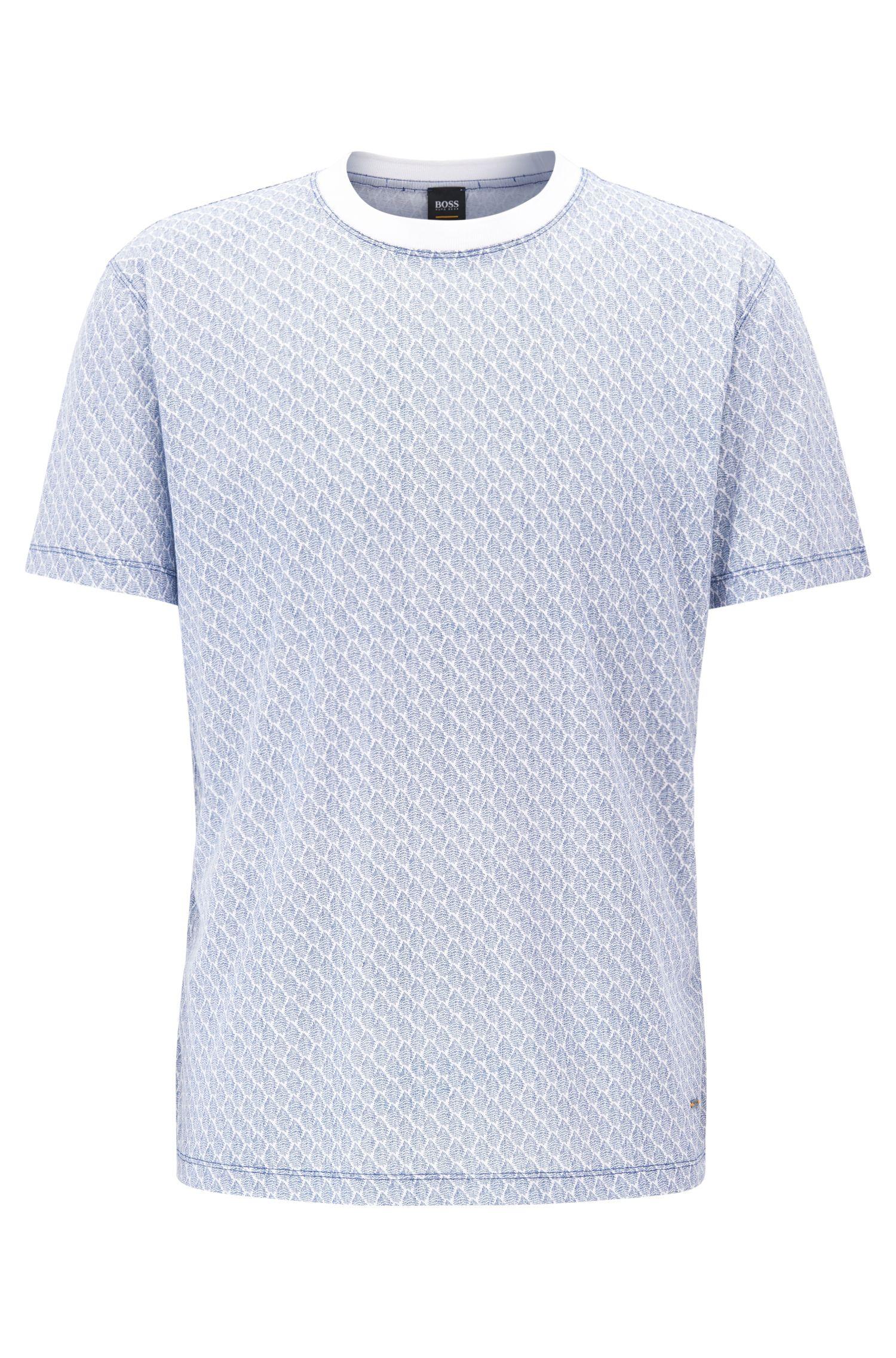Relaxed-Fit T-Shirt aus gemustertem Baumwoll-Jersey