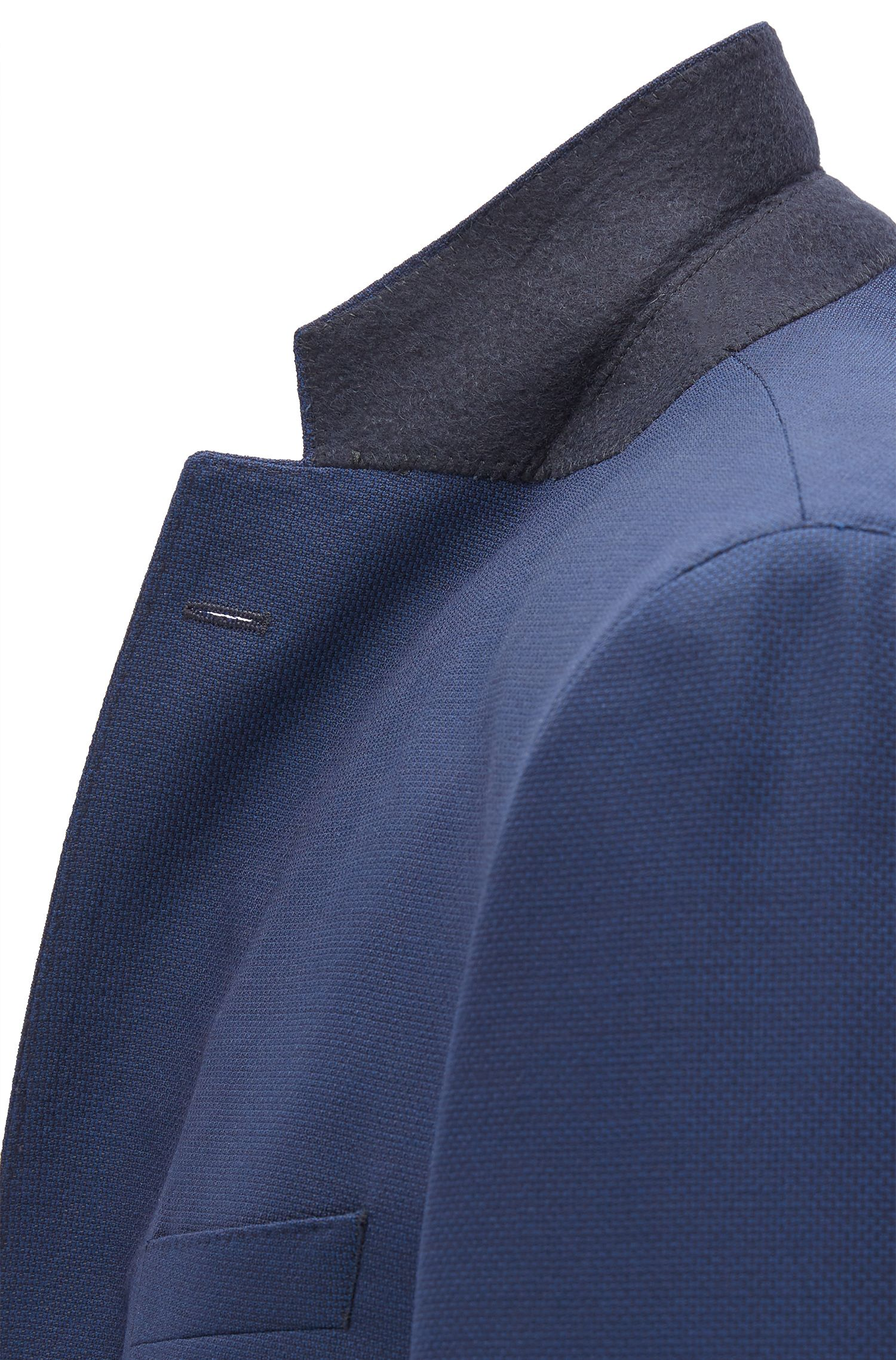 Regular-fit tailored jacket in virgin wool