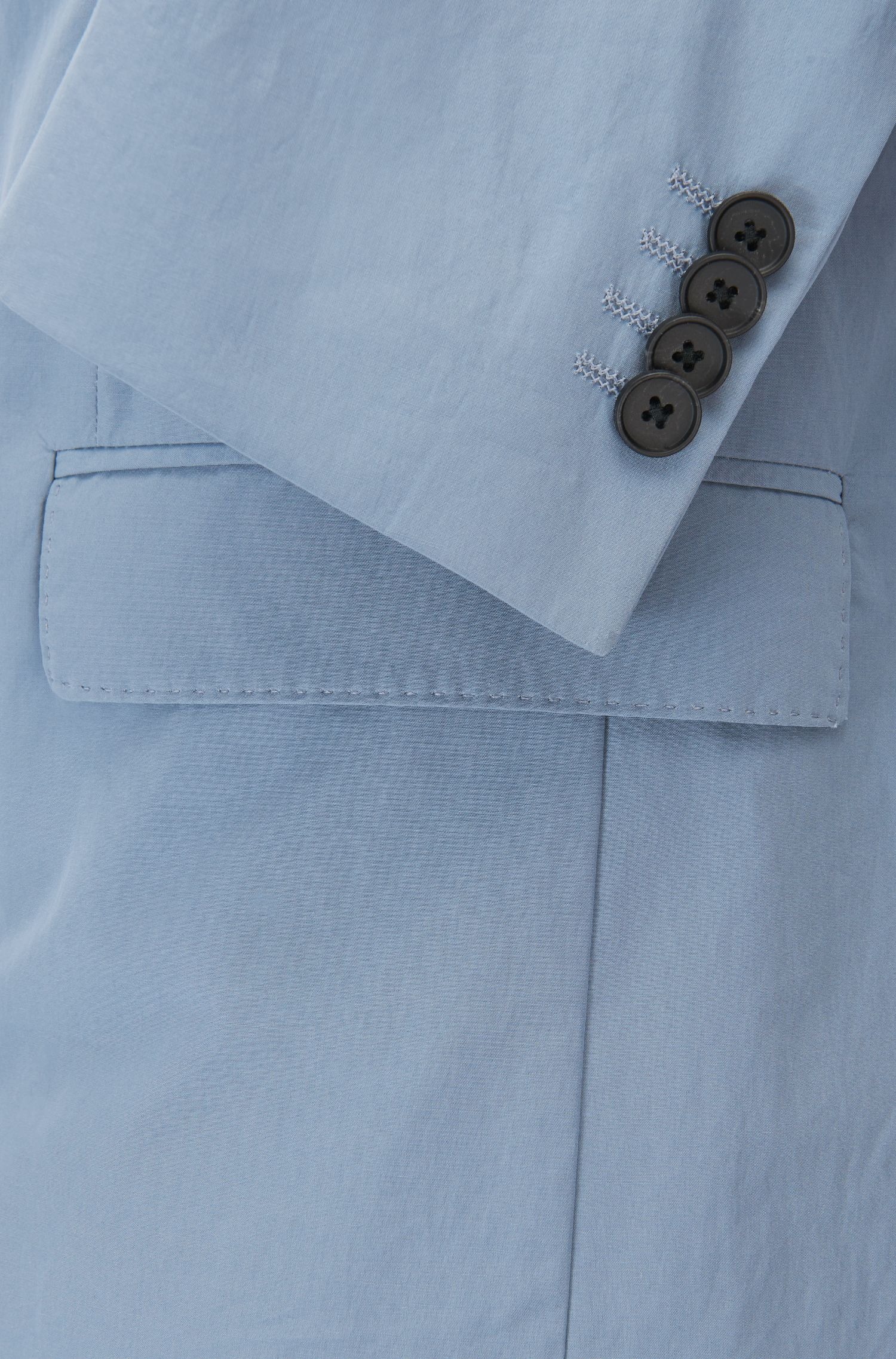 Slim-fit jacket in paper-touch cotton poplin