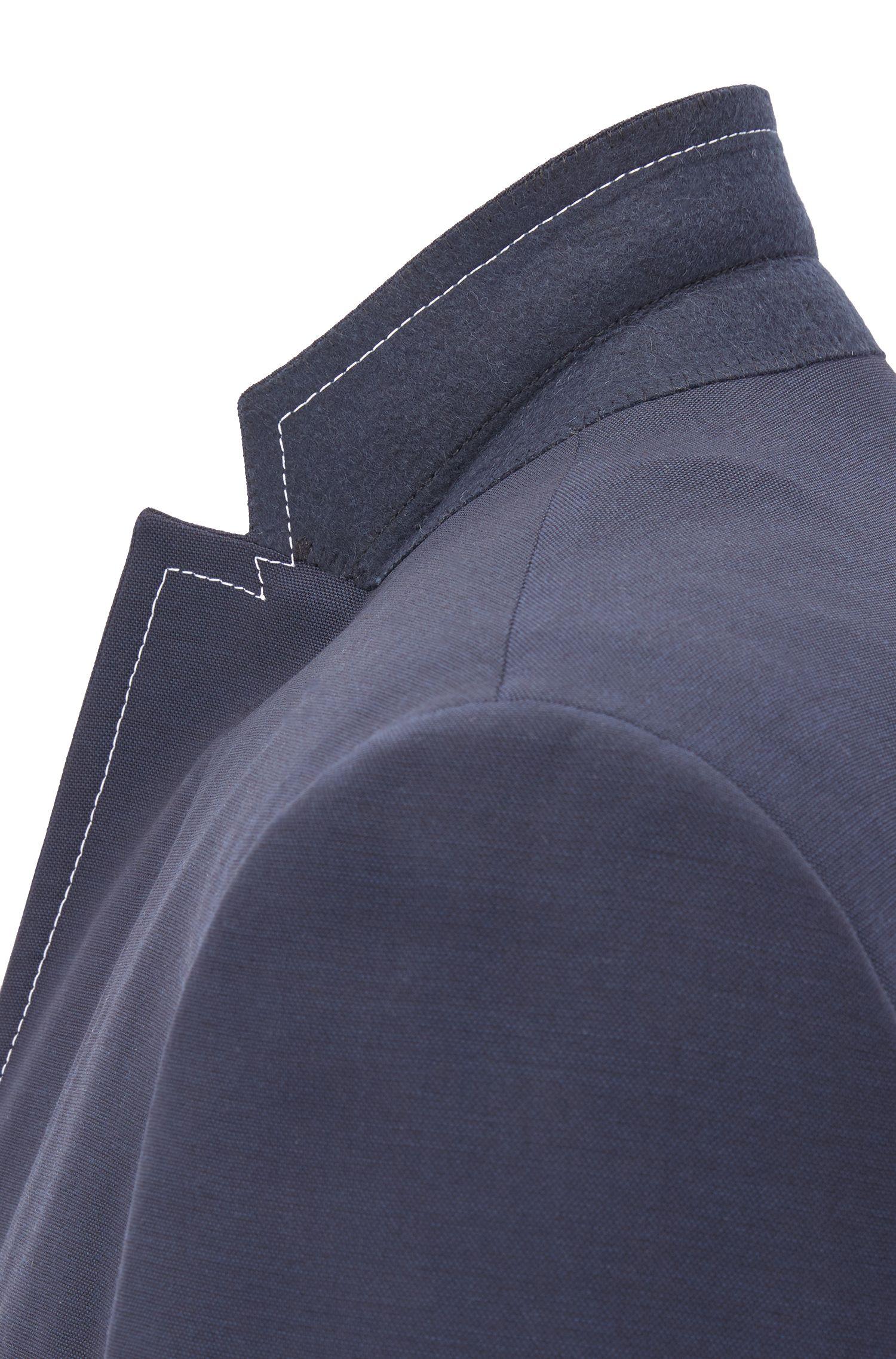 Extra Slim-Fit Sakko aus Schurwolle mit Kontrastnähten