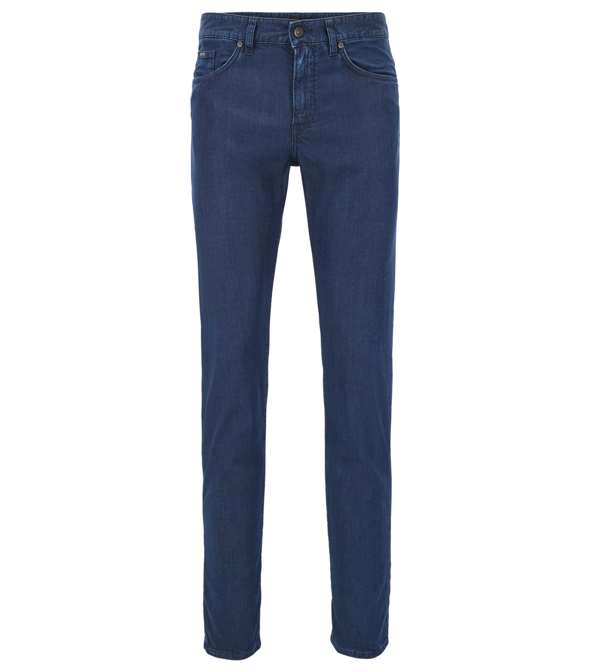 Slim-fit jeans in lightweight dark-blue stretch denim, Dark Blue