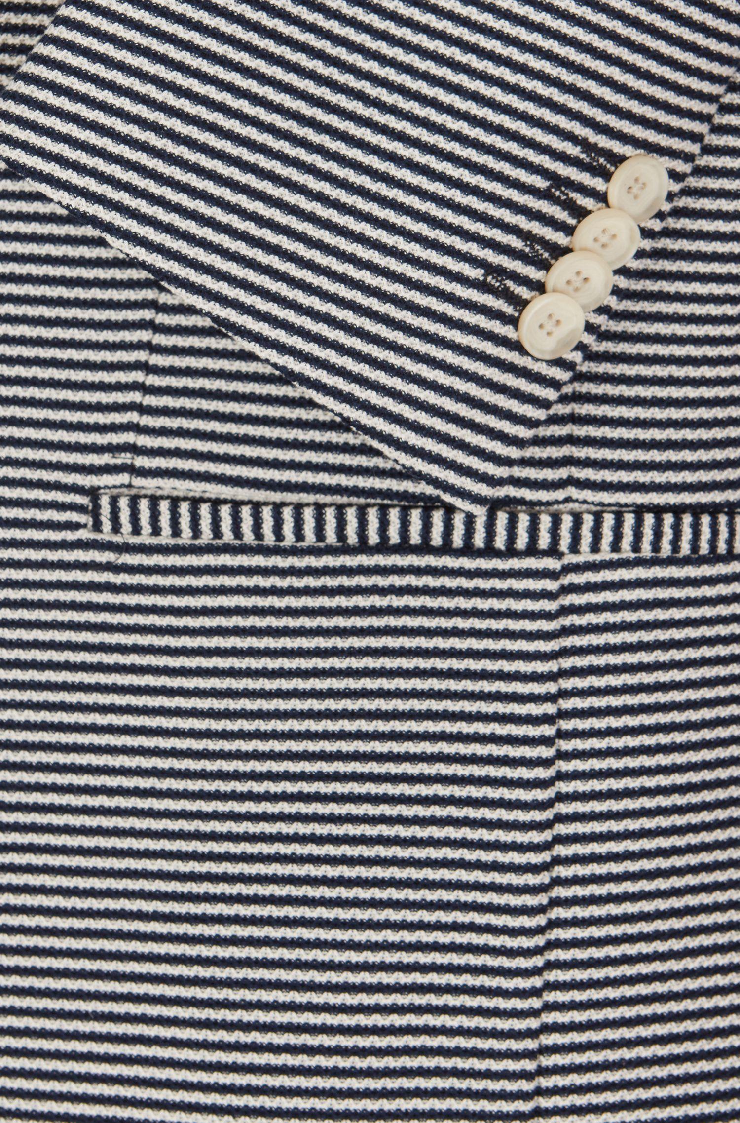 Giacca slim fit in cotone con righe