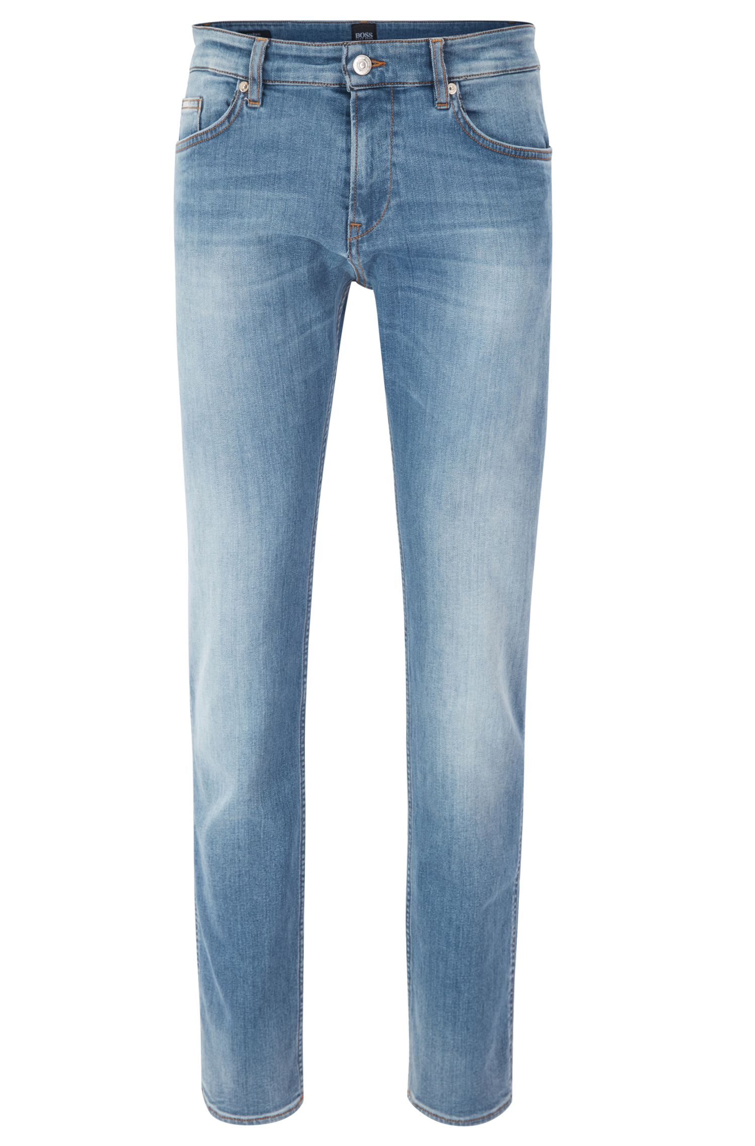 Jean Slim Fit en denim stretch italien bleu moyen