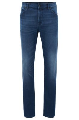Regular-Fit Jeans aus Stretch-Denim , Blau