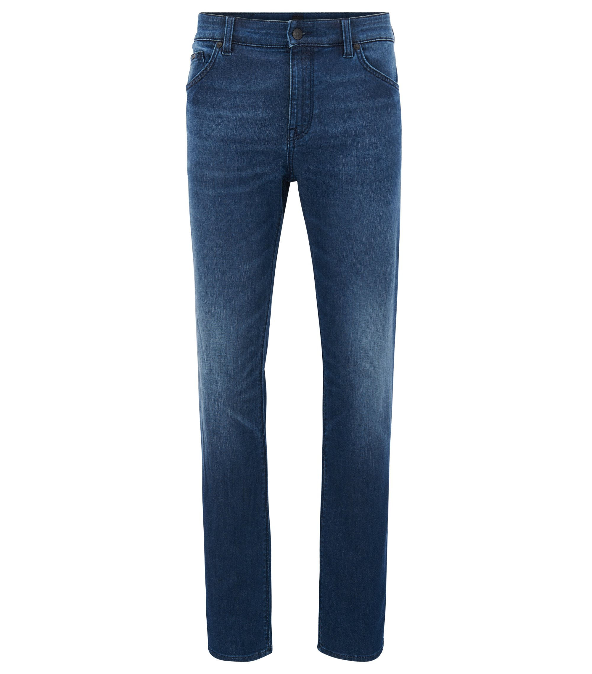 Jean Regular Fit en denim stretch bleu moyen , Bleu