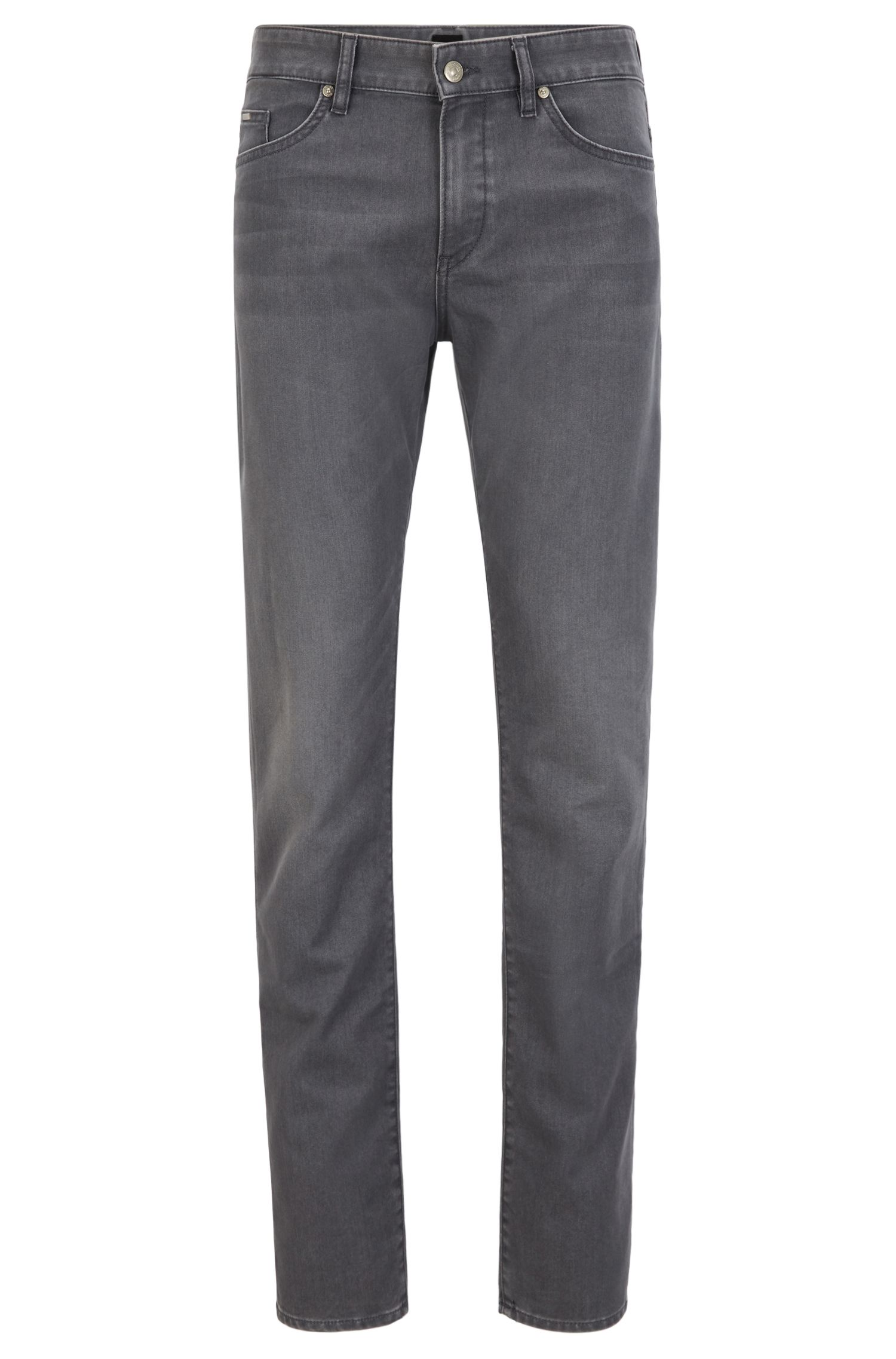 Slim-fit jeans in grey comfort-stretch denim