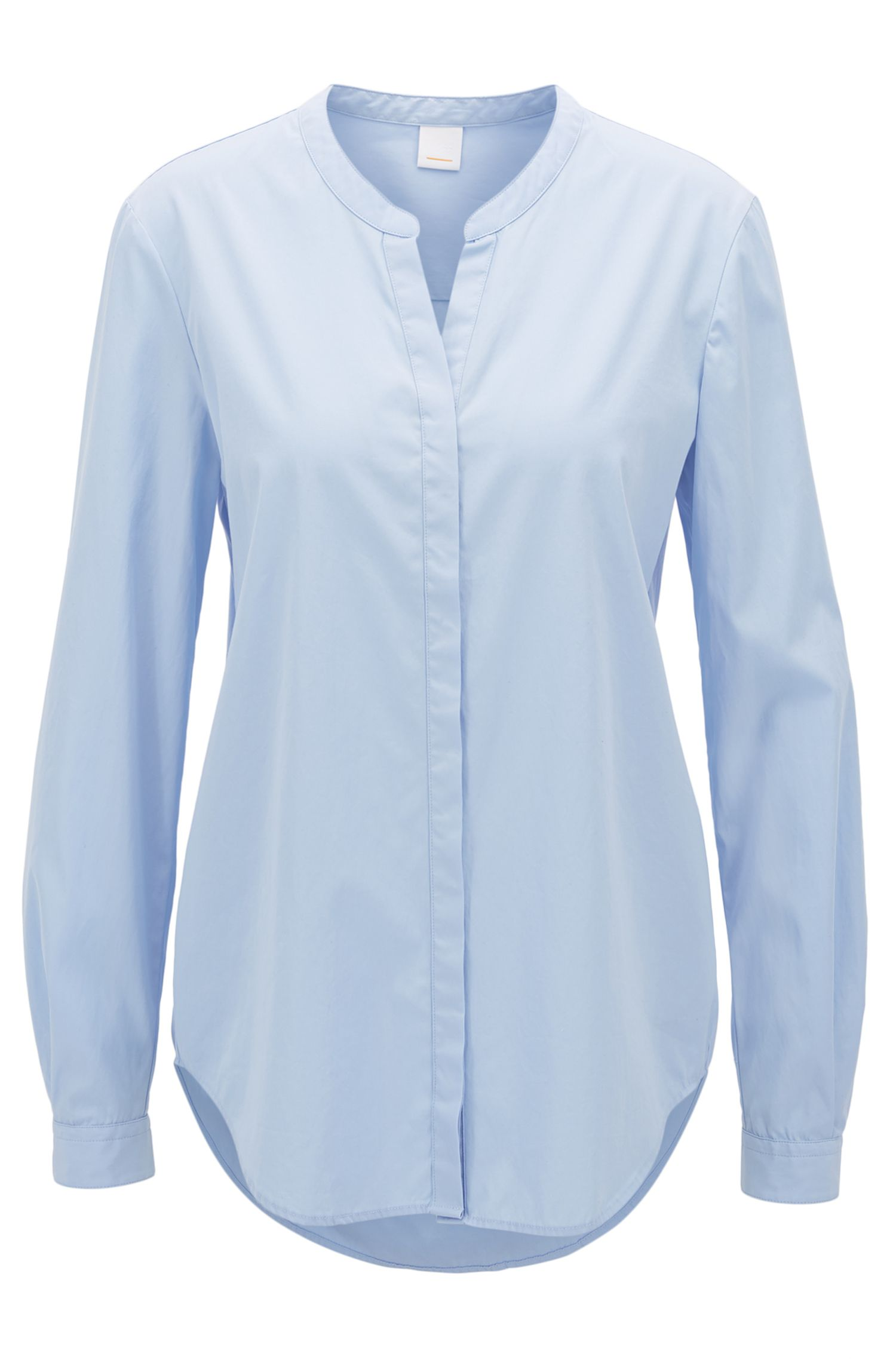 Relaxed-fit blouse in garment-washed cotton