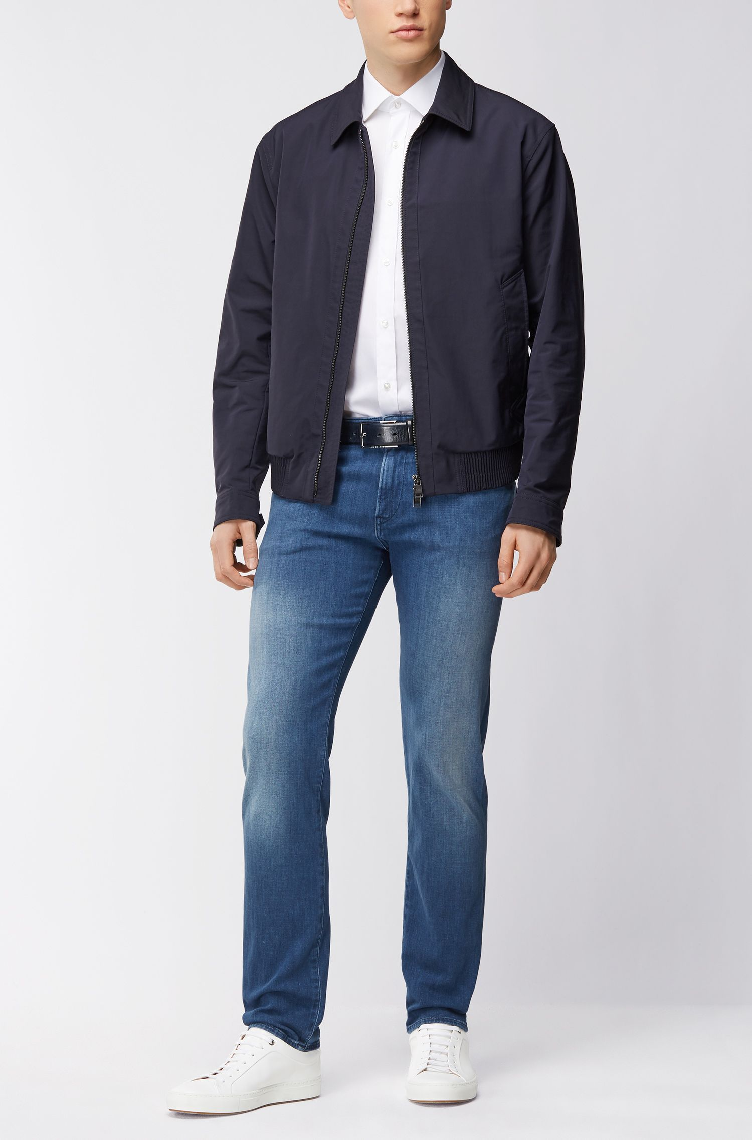 Slim-fit jeans in cashmere-touch stretch denim BOSS
