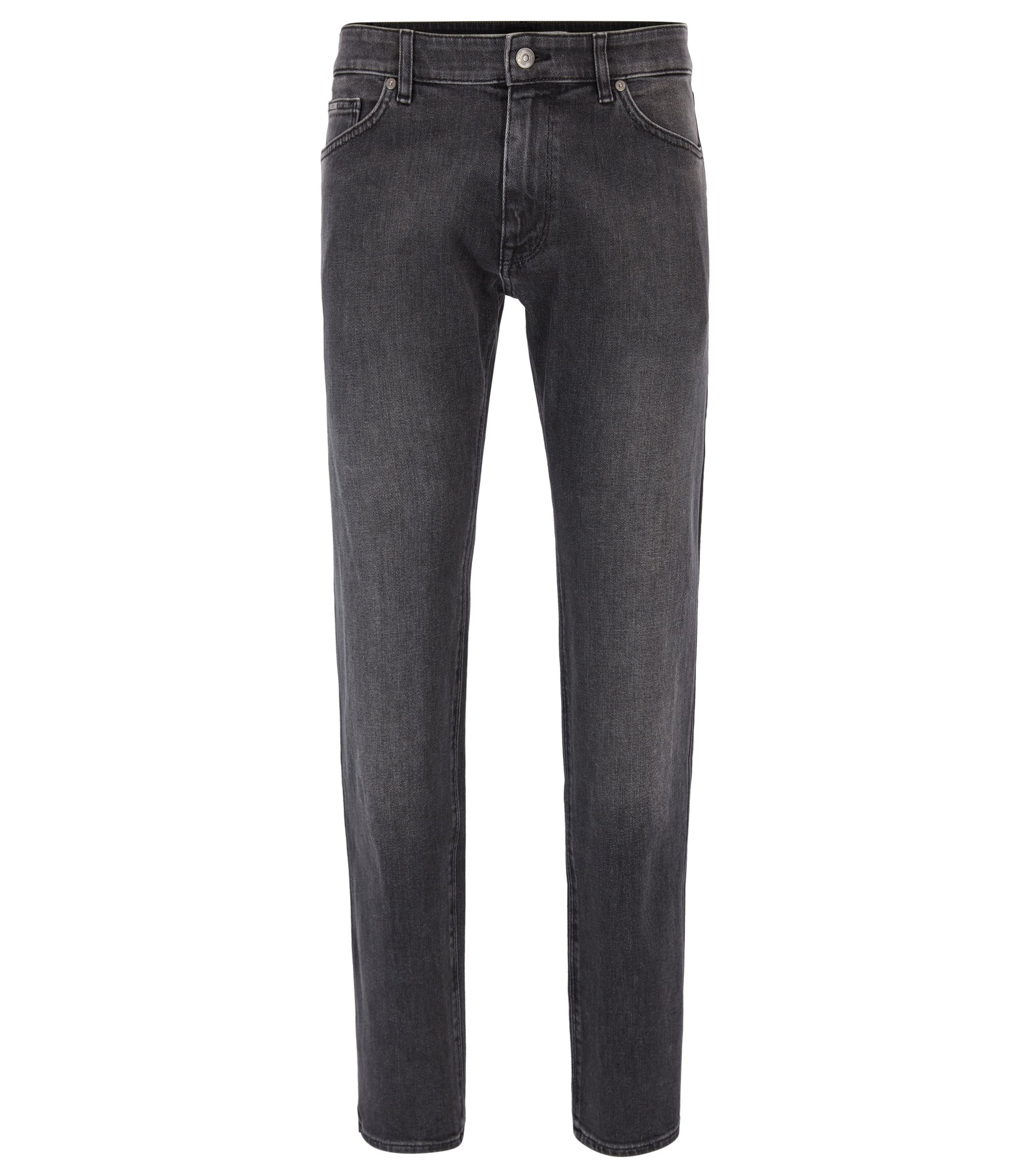 Jean Regular Fit en denim stretch confortable, Gris sombre