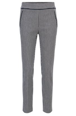 Regular-fit cropped trousers in stretch cotton BOSS toUWr