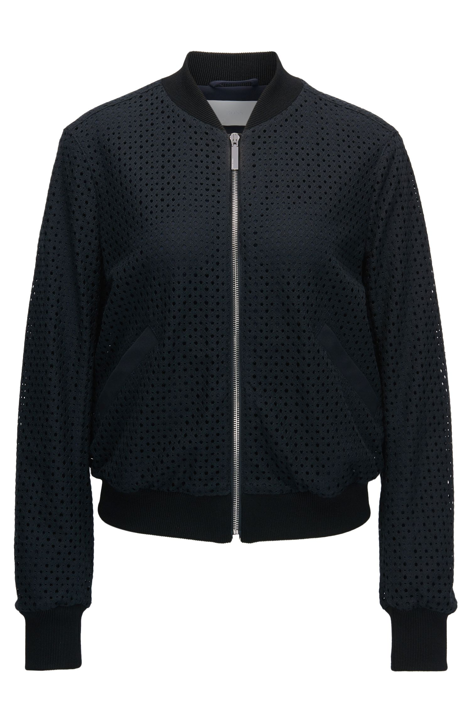 Modern bomber jacket in lace