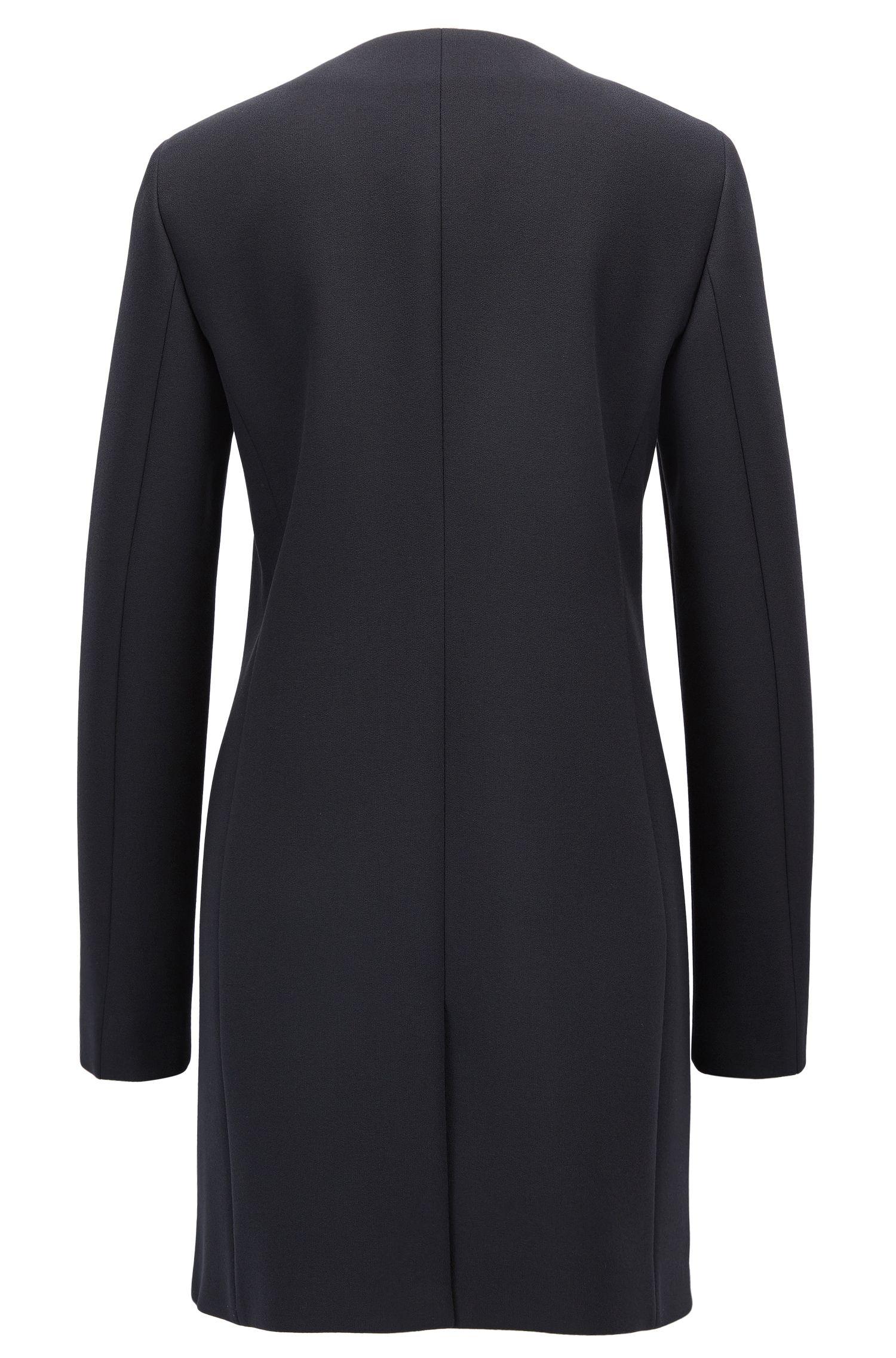 Streamlined coat in bonded crepe