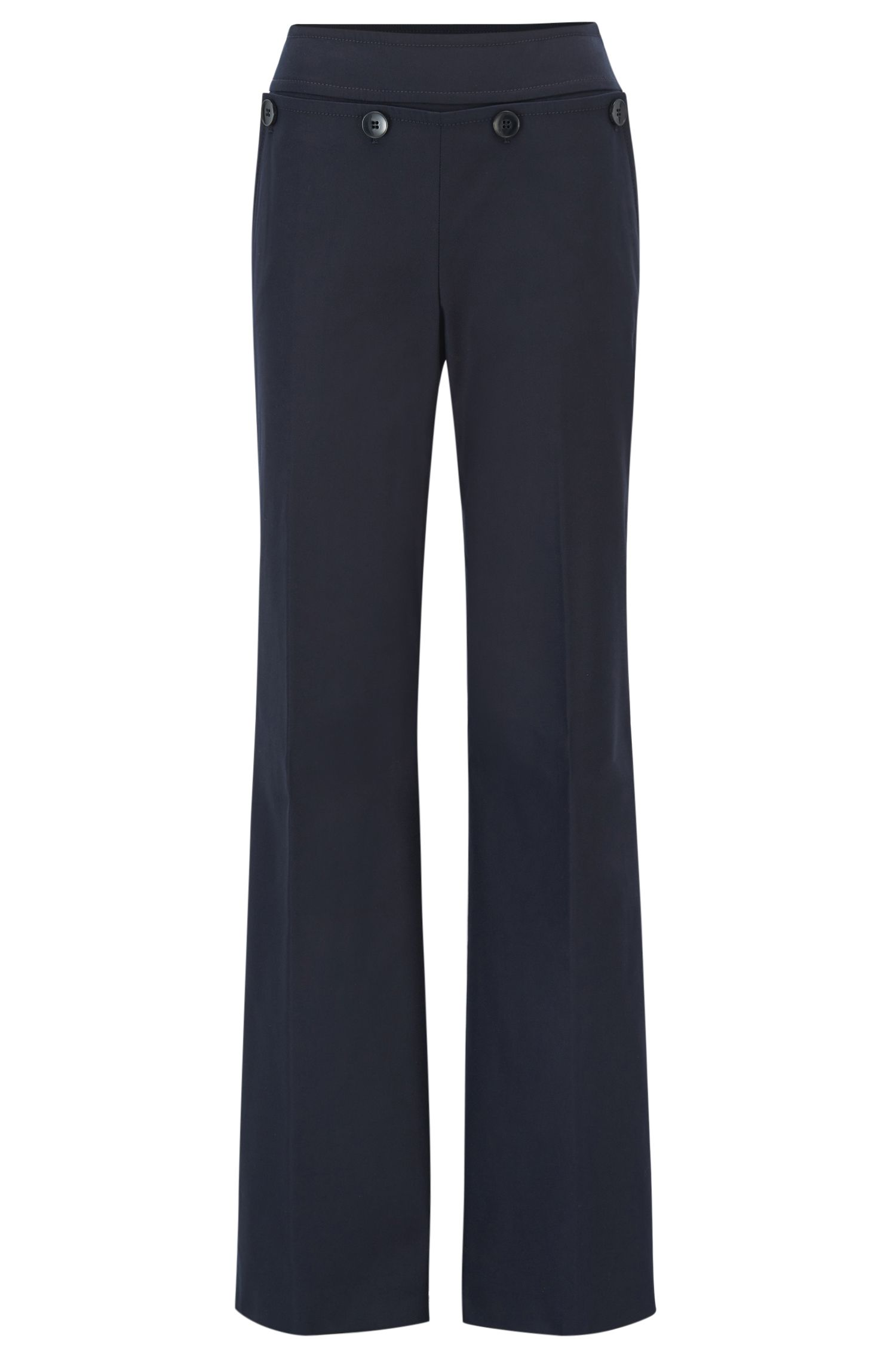 Regular-fit sailor trousers in a stretch-cotton blend