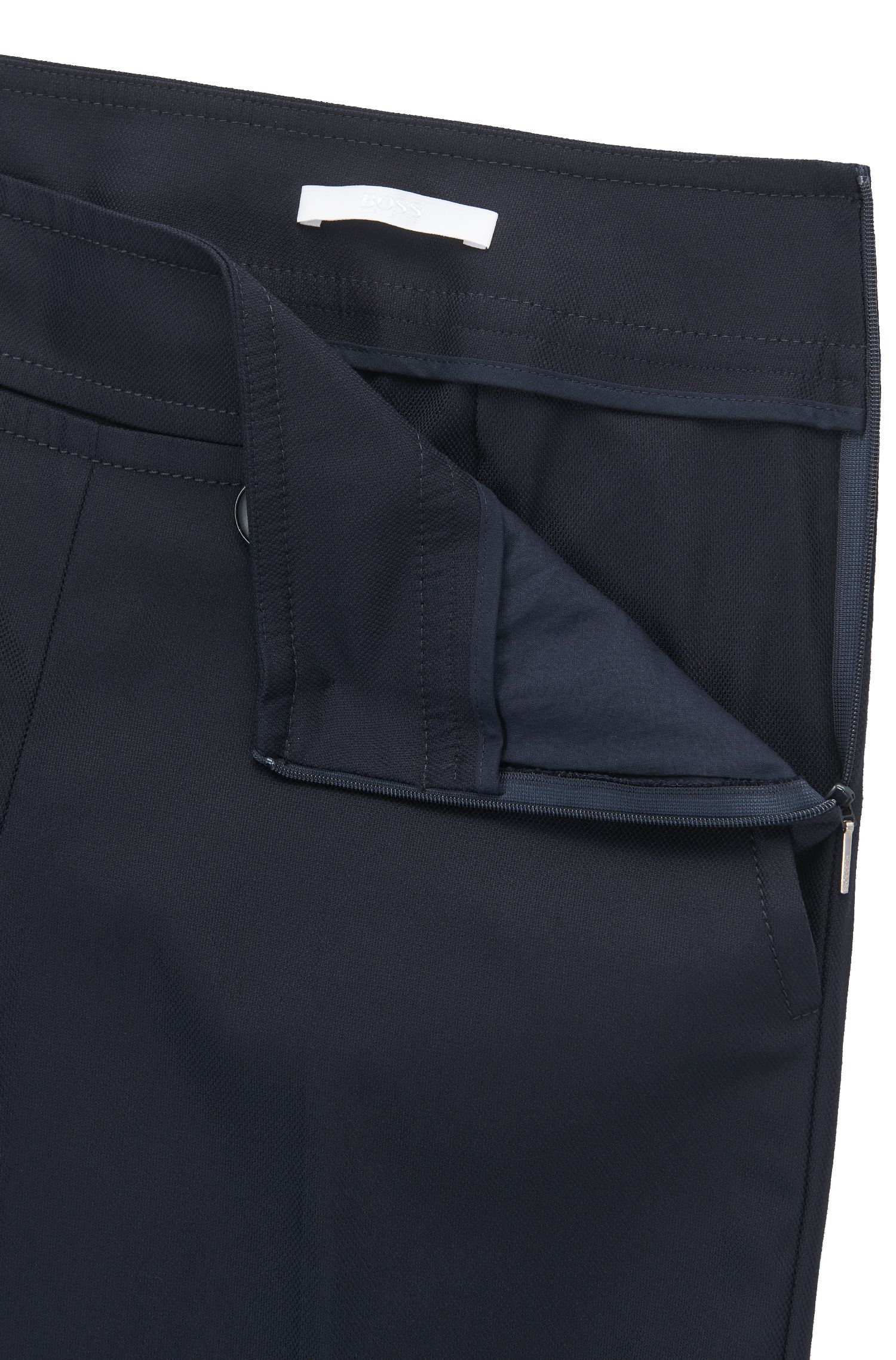 Pantalon à pont Regular Fit en coton stretch mélangé