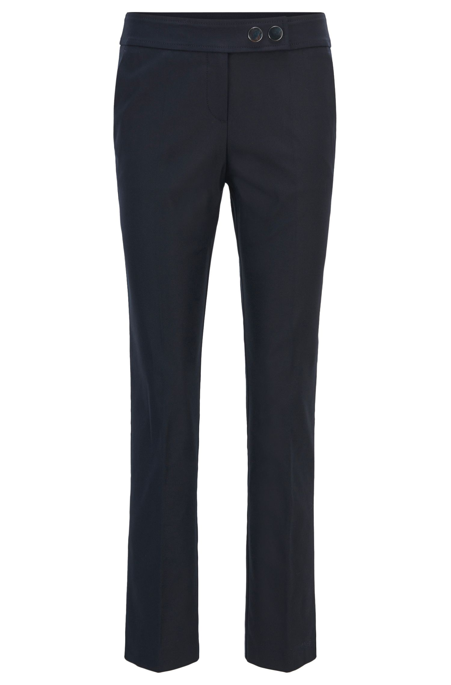 Regular-fit cropped trousers in a stretch-cotton blend