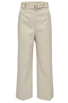 Wide-leg trousers with all-over fringe detailing HUGO BOSS S7M1dyBP