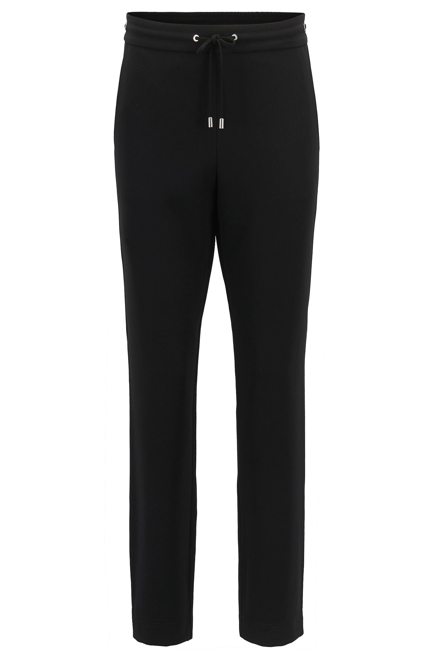 Athleisure-inspired cropped trousers in technical crêpe