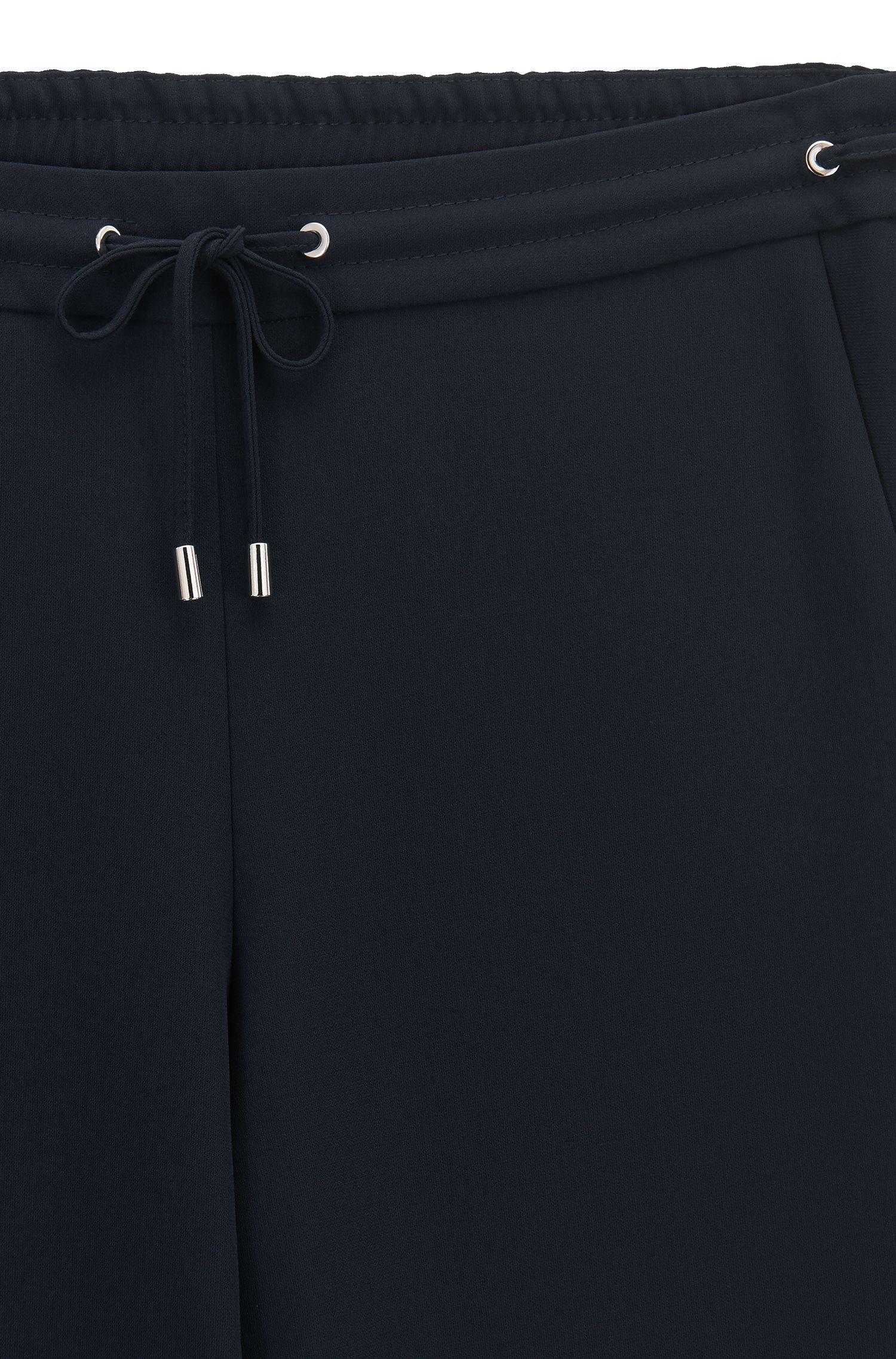 Athleisure-Wear-Hose aus Krepp in Cropped-Länge