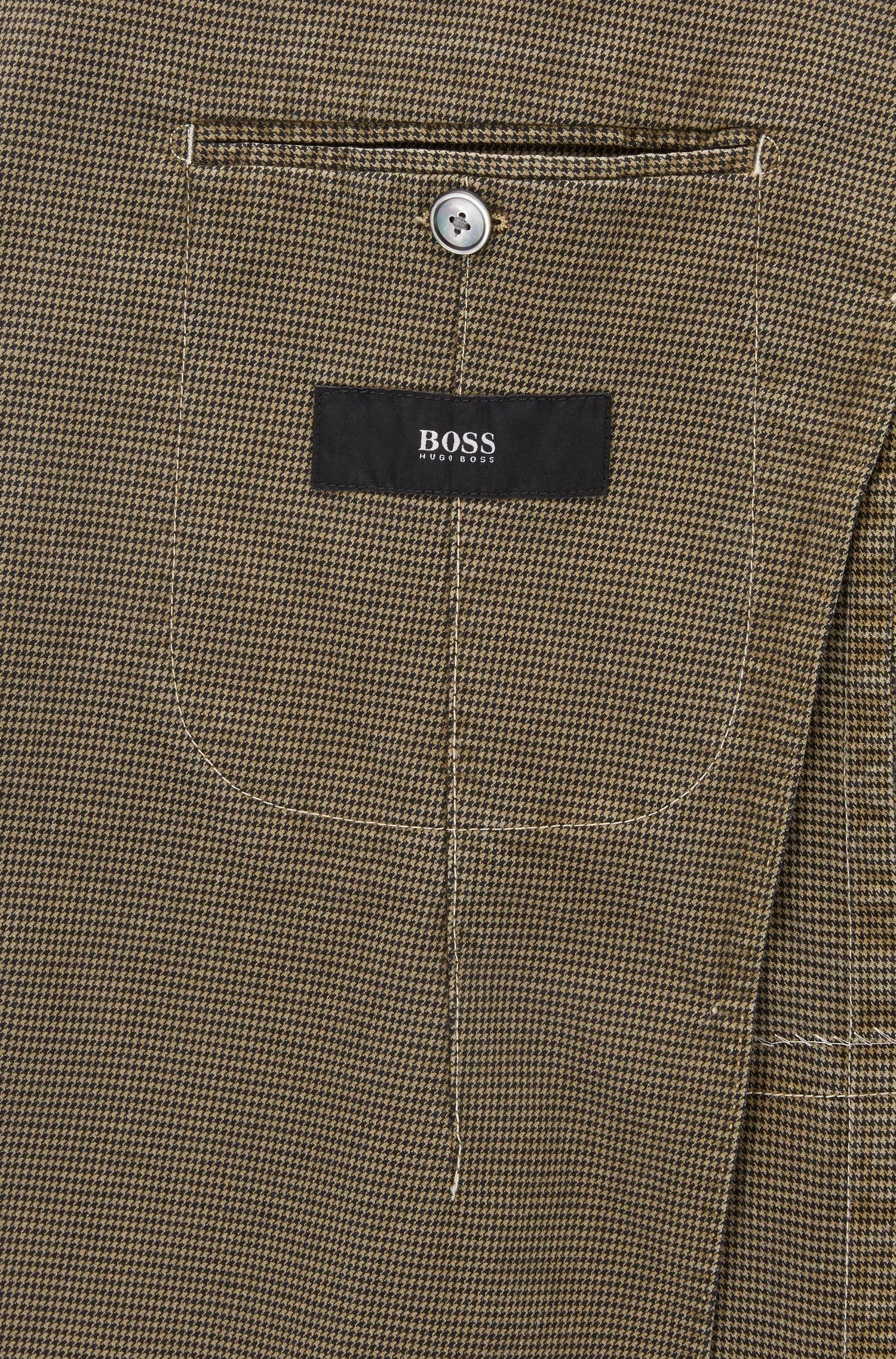Slim-Fit Sakko aus elastischer Baumwolle mit Hahnentritt-Muster