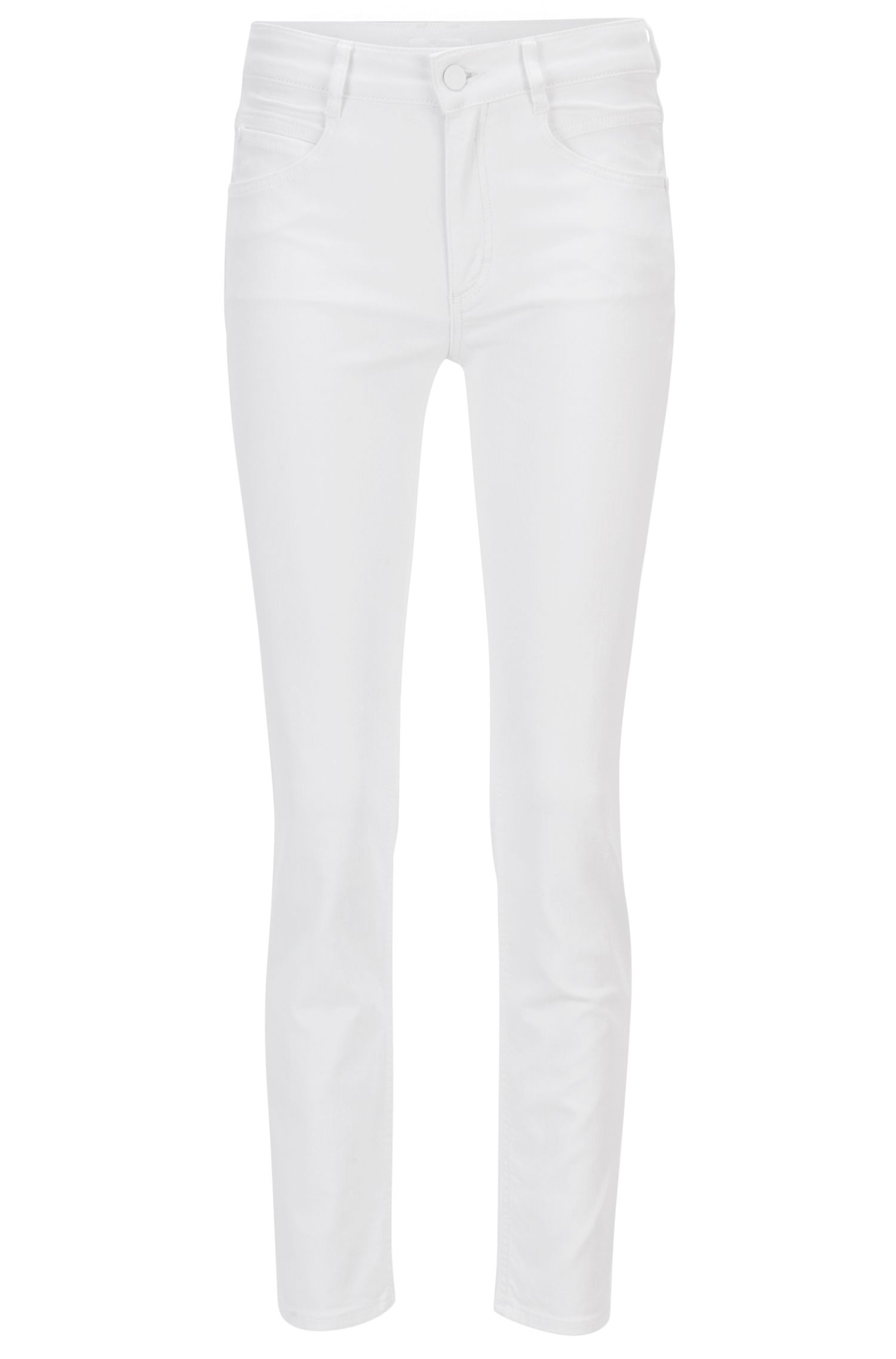 Kortere regular-fit jeans van comfortabel stretchdenim