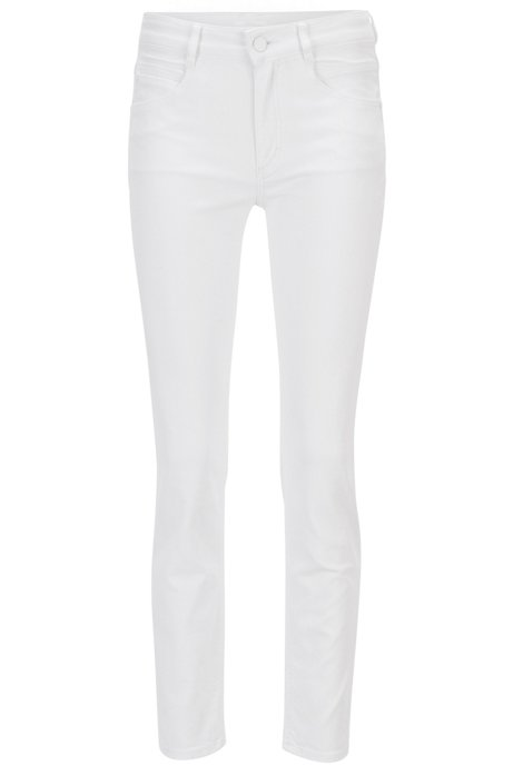 Original Discount Amazing Price Regular-fit cropped jeans in comfort-stretch denim BOSS Outlet Clearance GkthYk