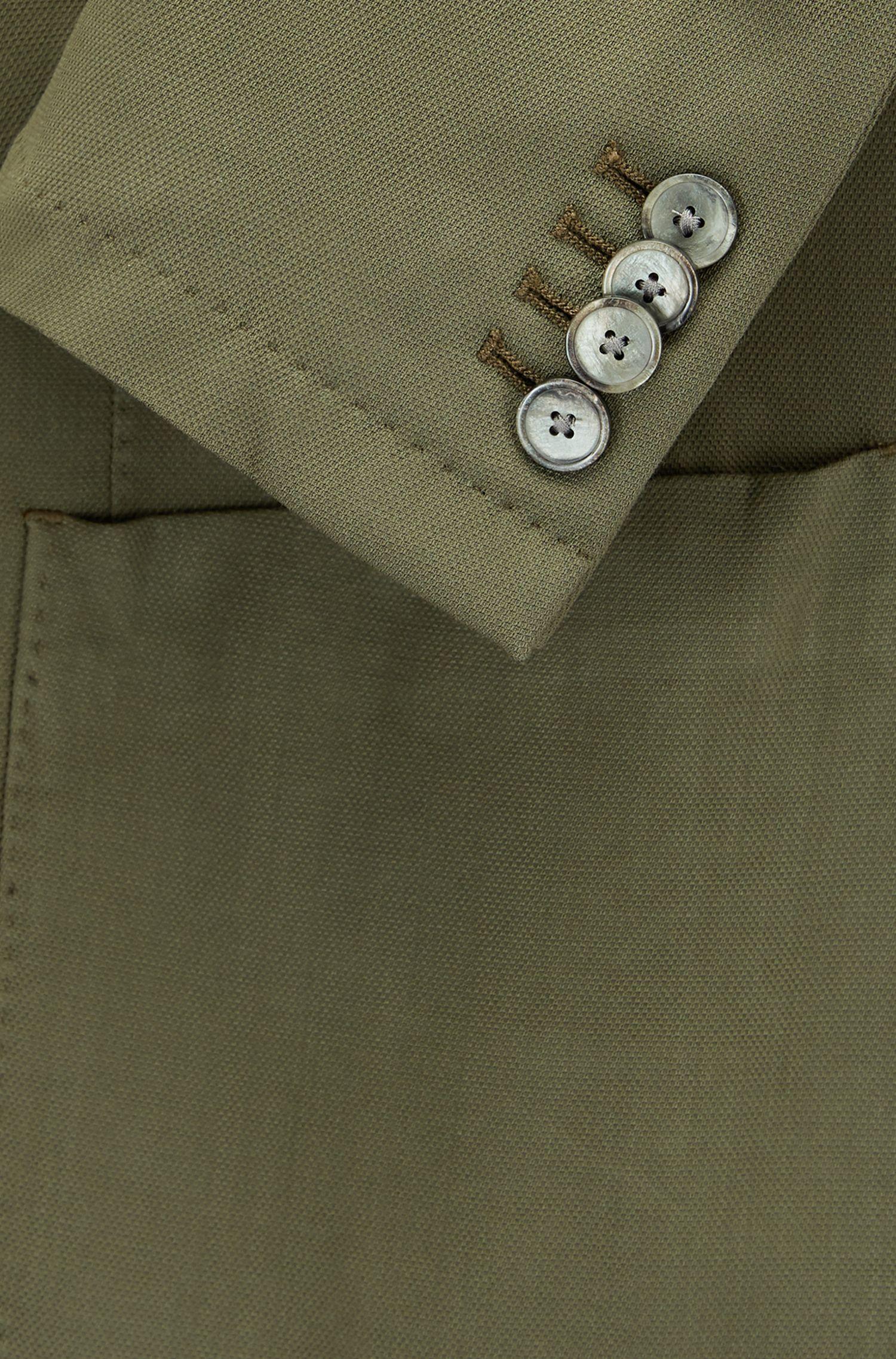 Slim-fit garment-dyed colbert van scheerwol