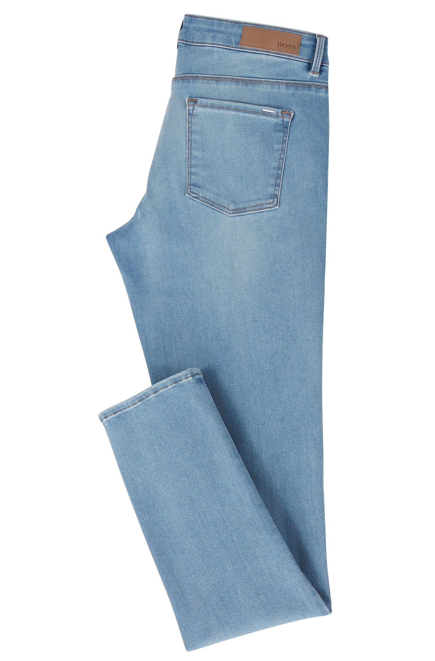 Bright-blue super-stretch jeans in a regular fit
